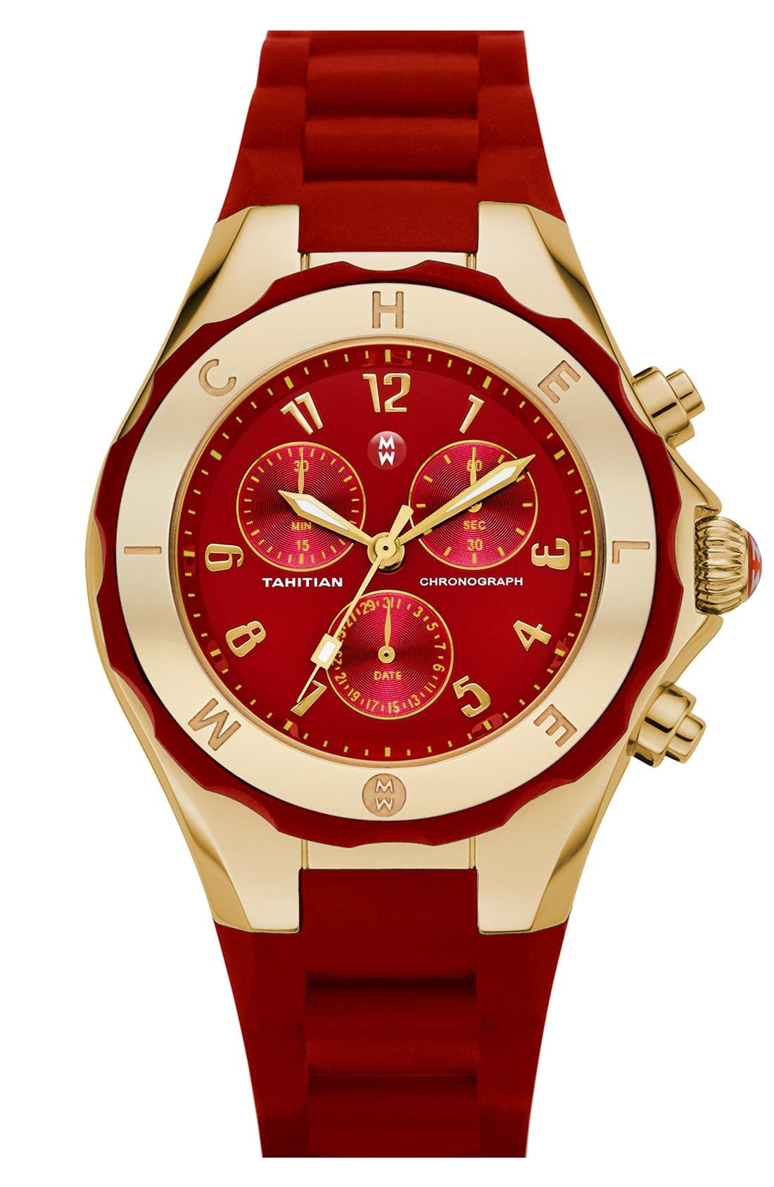 'Tahitian Jelly Bean' Gold Plated Watch, 40mm,                             Main thumbnail 21, color,