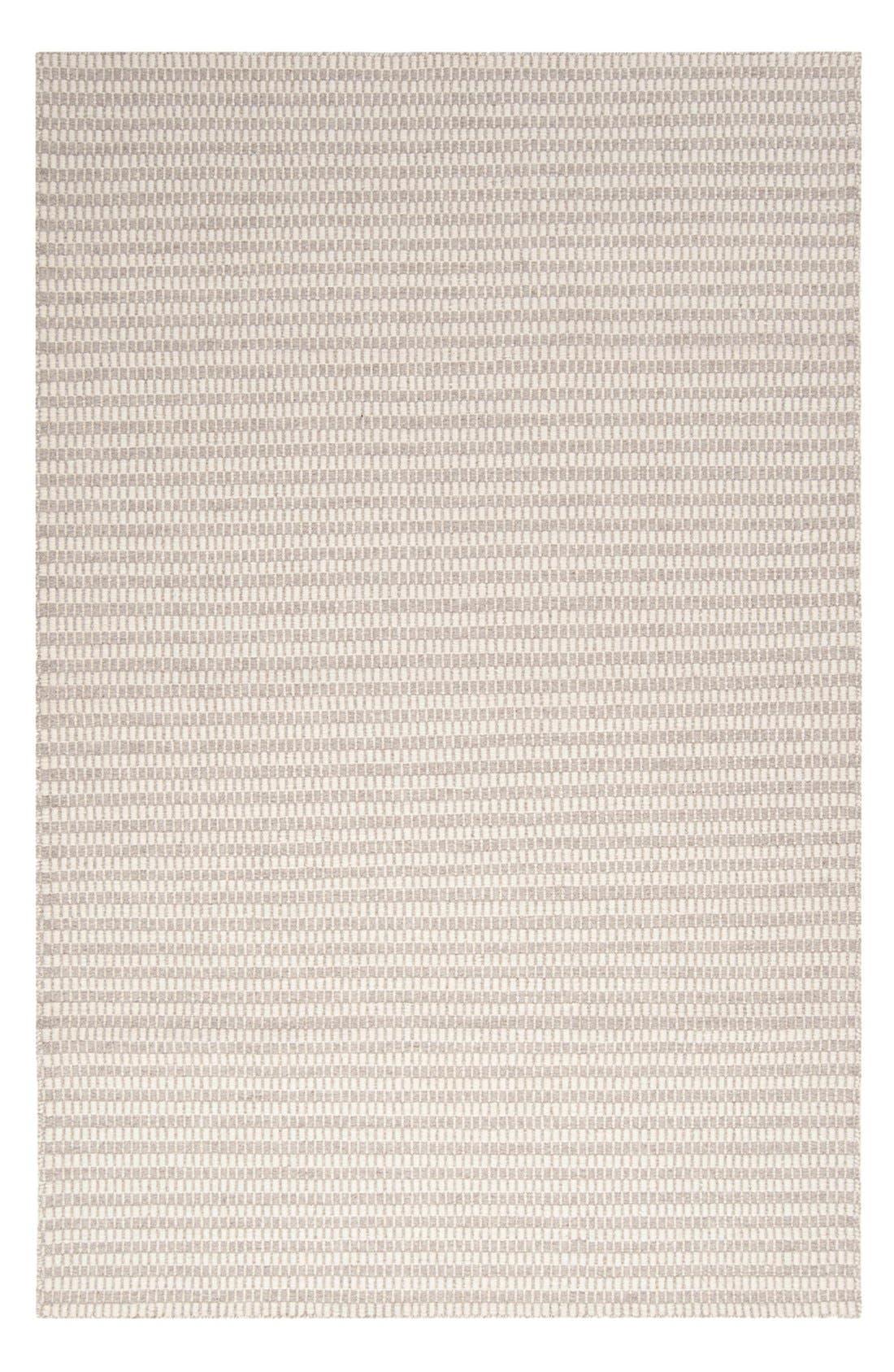 'Ravena' Wool Rug,                             Main thumbnail 1, color,                             GREY/ IVORY