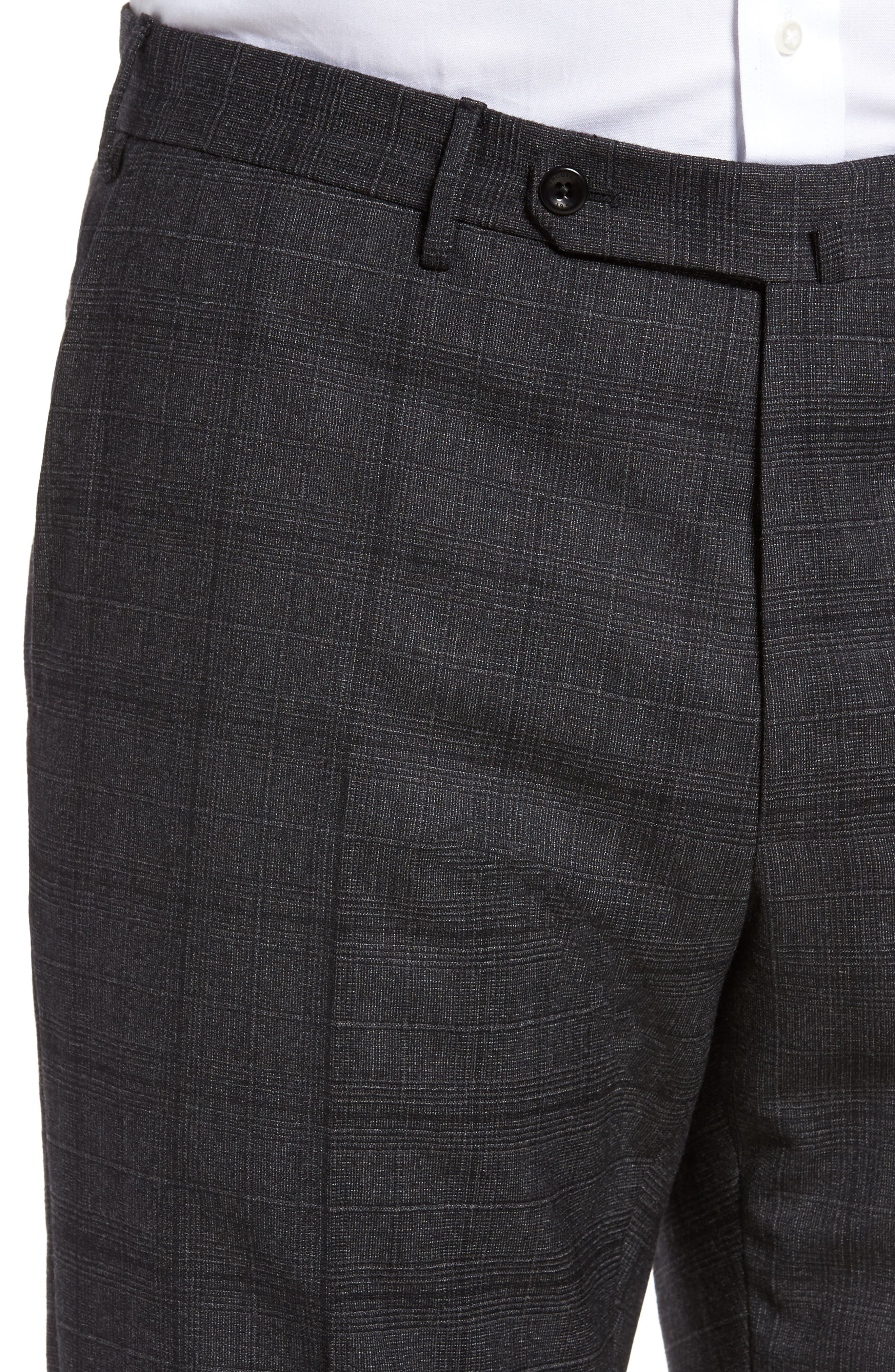 Benson Flat Front Trousers,                             Alternate thumbnail 5, color,                             015