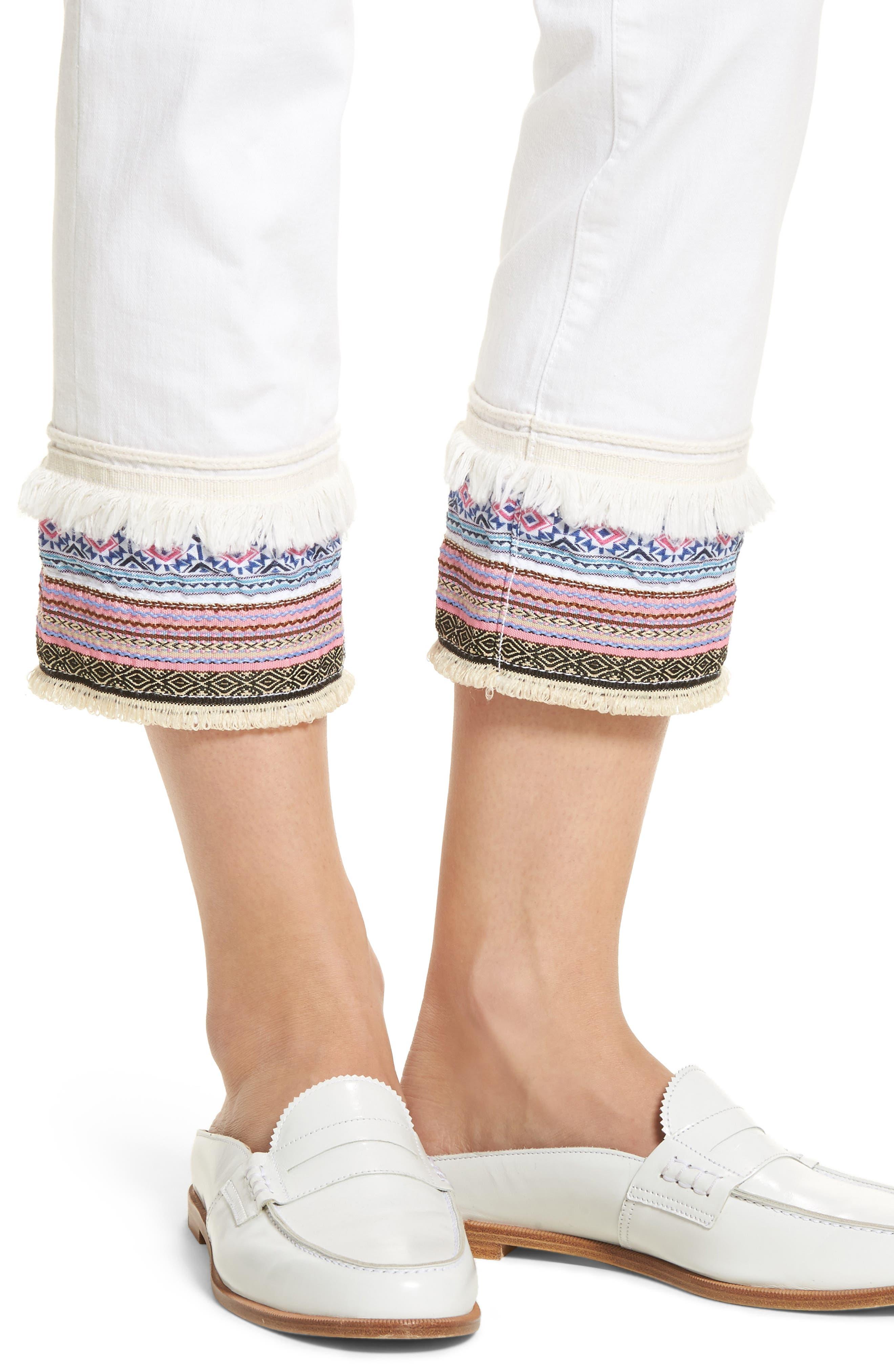 Embellished Denim Pants,                             Alternate thumbnail 4, color,                             168
