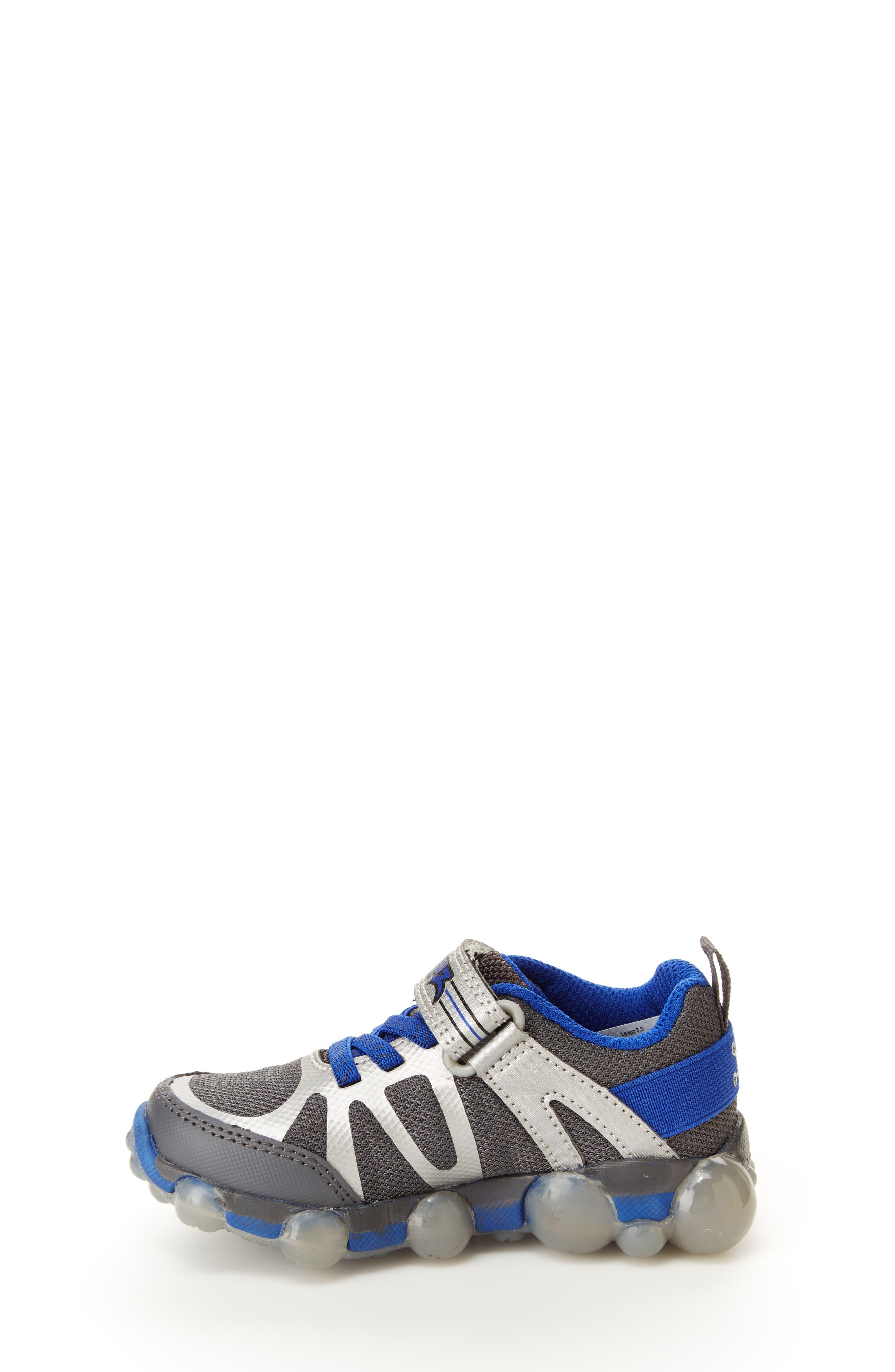 Leepz 3.0 Light-Up Sneaker,                             Alternate thumbnail 7, color,                             DARK GREY/ BLUE