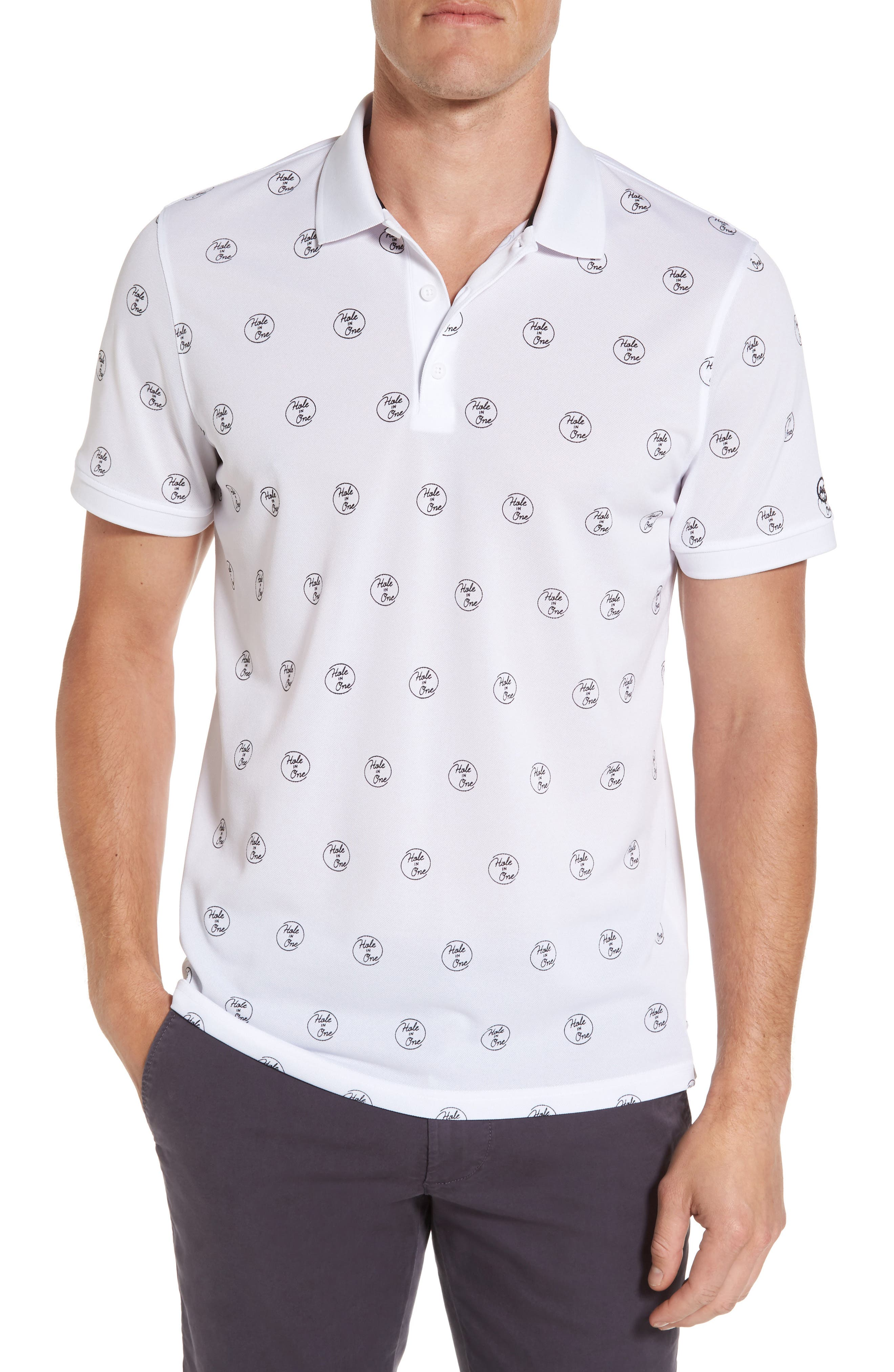 Hole in One Print Polo,                         Main,                         color, 104