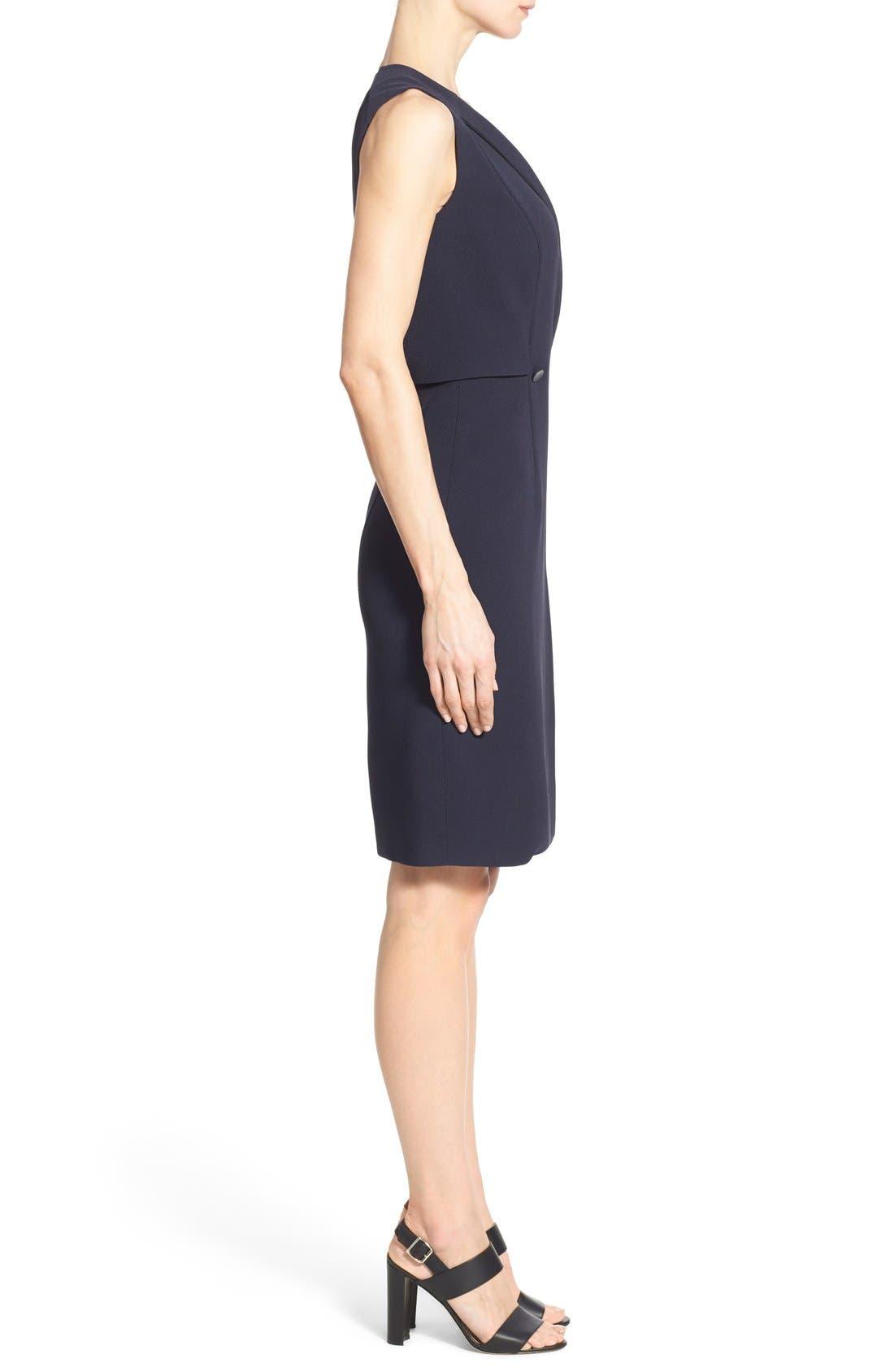 'Damarine' V-Neck Sleeveless Tuxedo Dress,                             Alternate thumbnail 3, color,                             411