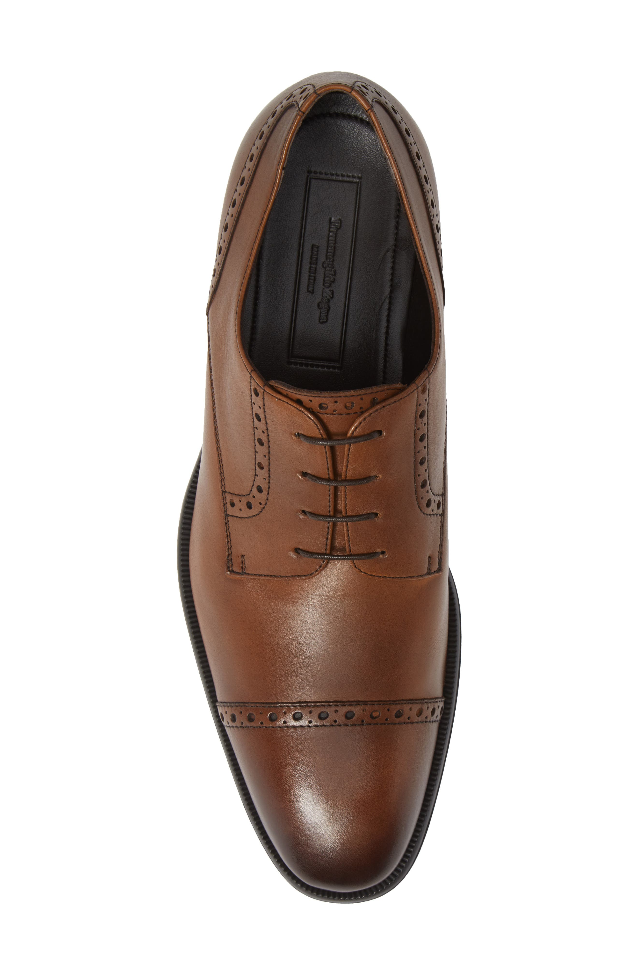 Cap Toe Derby,                             Alternate thumbnail 5, color,                             VICUNA BROWN