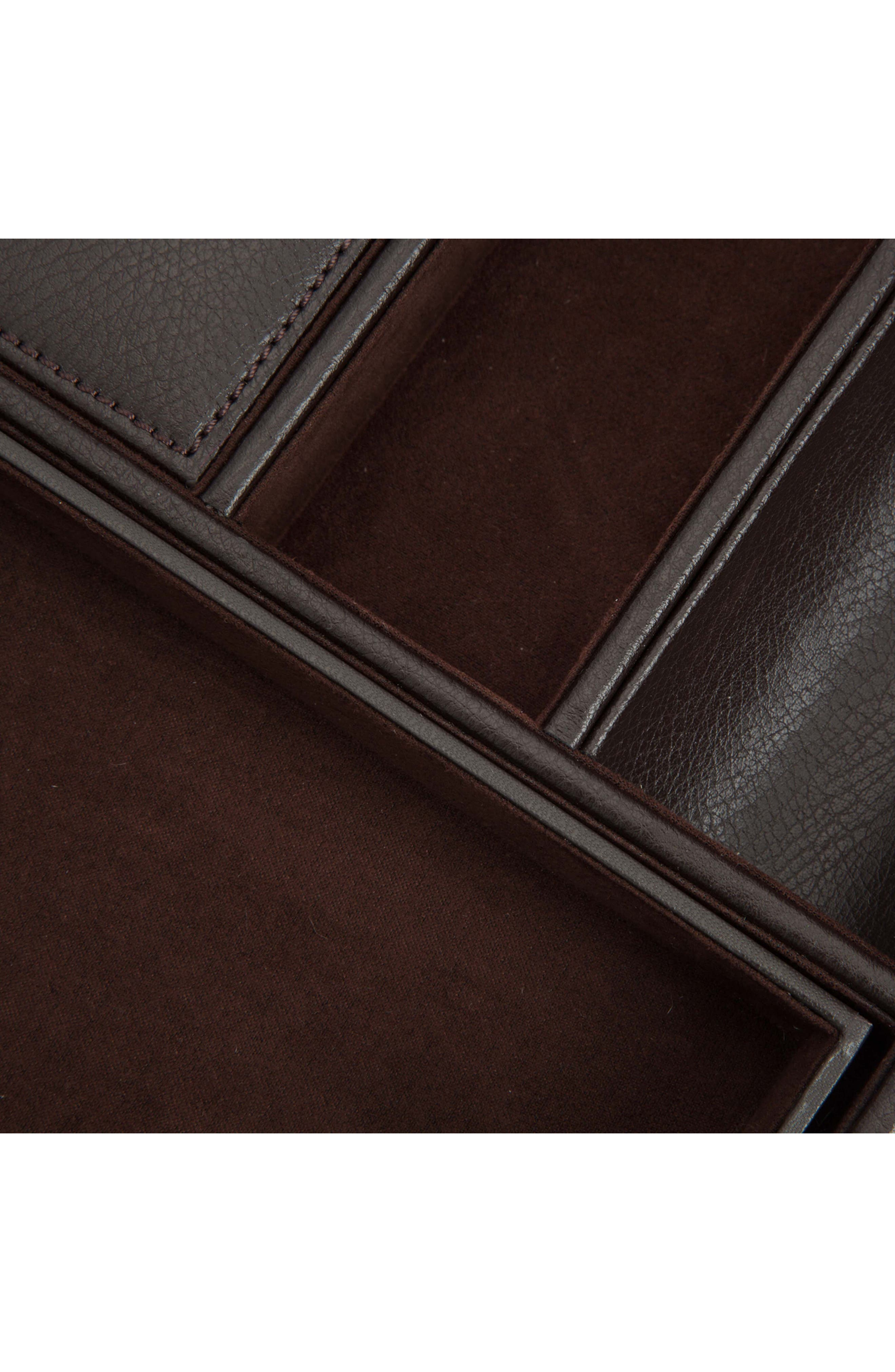 Blake Valet Tray & Watch Cuff,                             Alternate thumbnail 4, color,                             BROWN