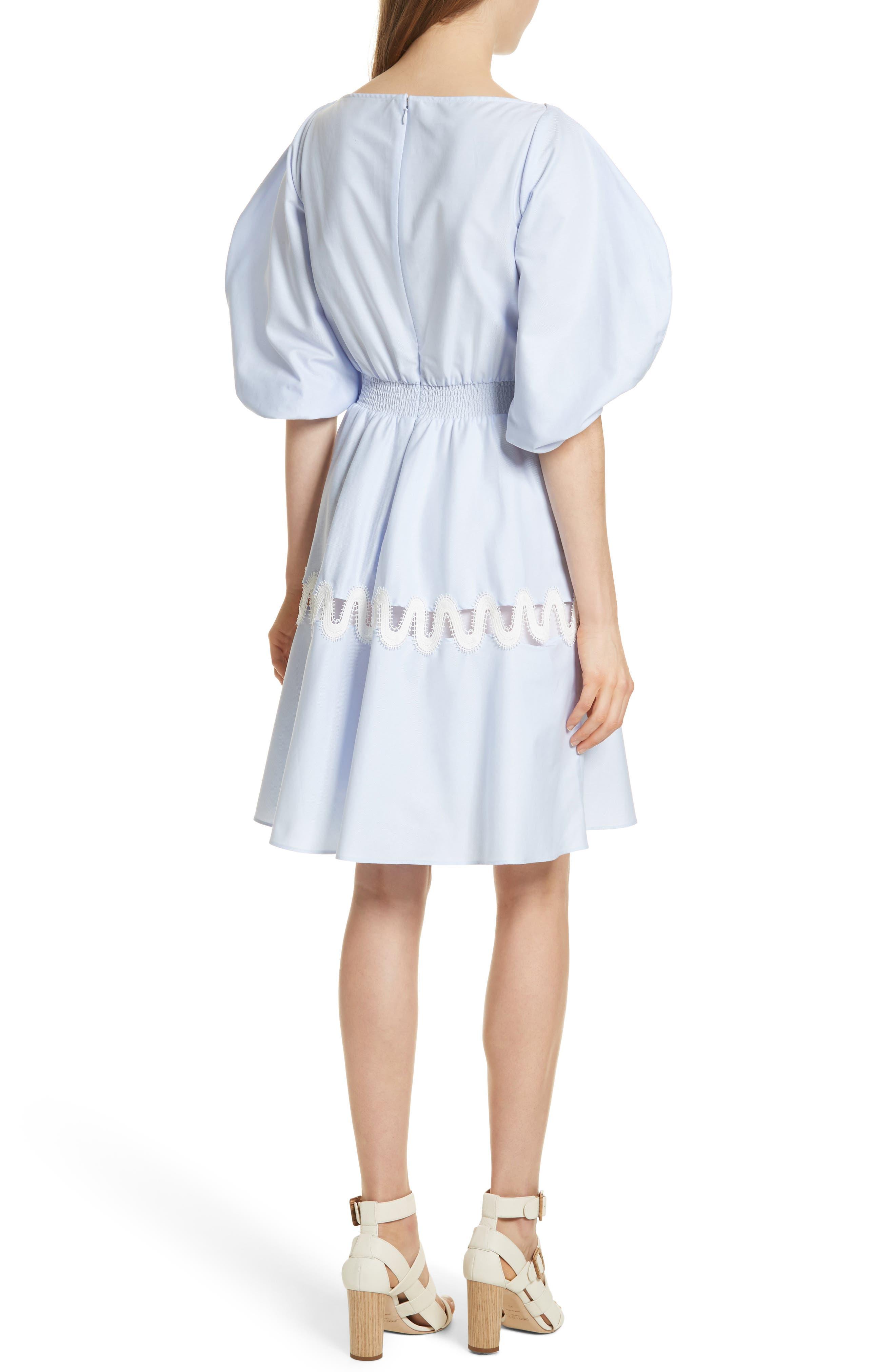 Prose & Poetry Charleene Cotton Balloon Sleeve Dress,                             Alternate thumbnail 2, color,