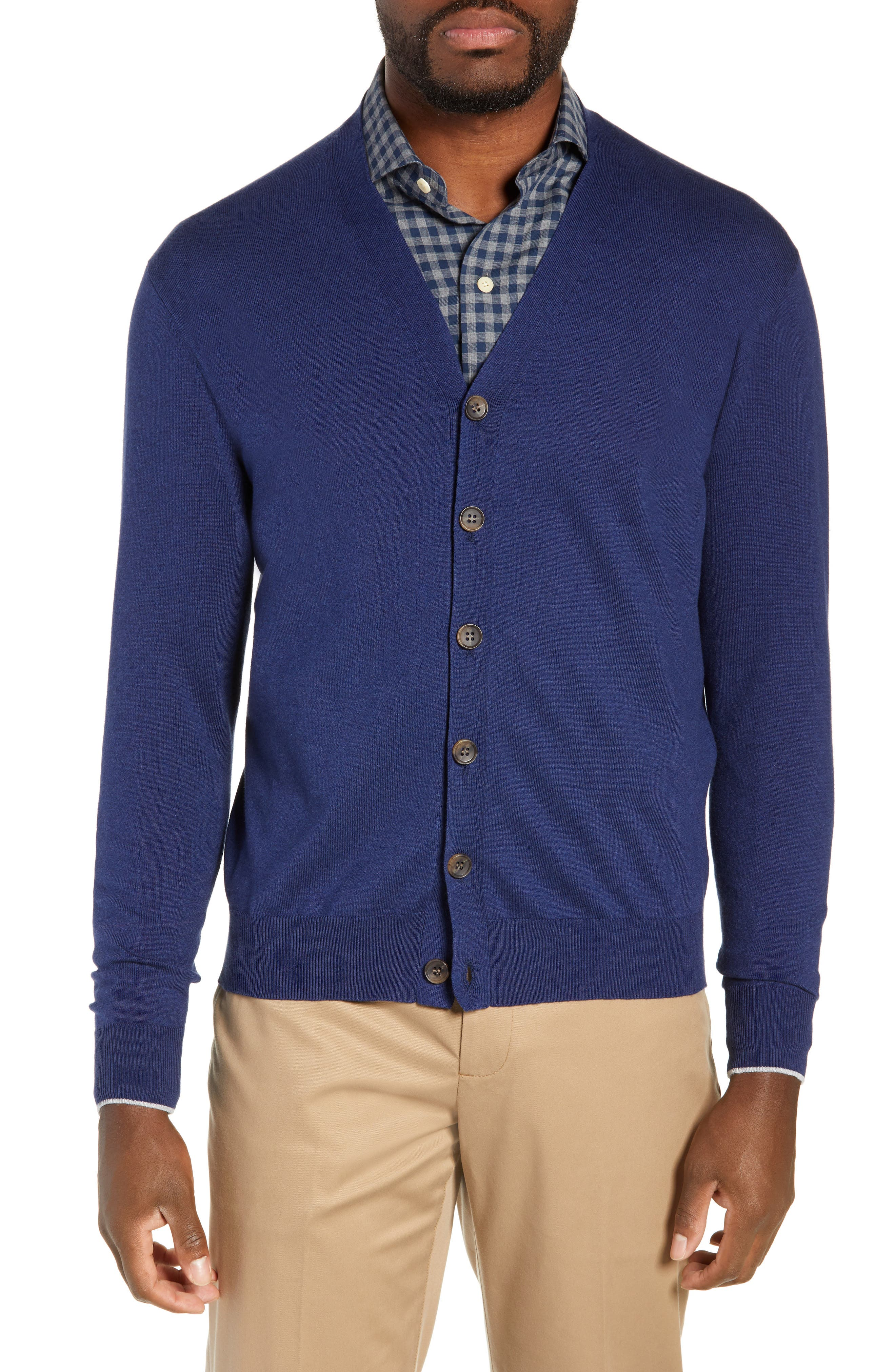 Peter Millar Crown Soft Cardigan, Blue