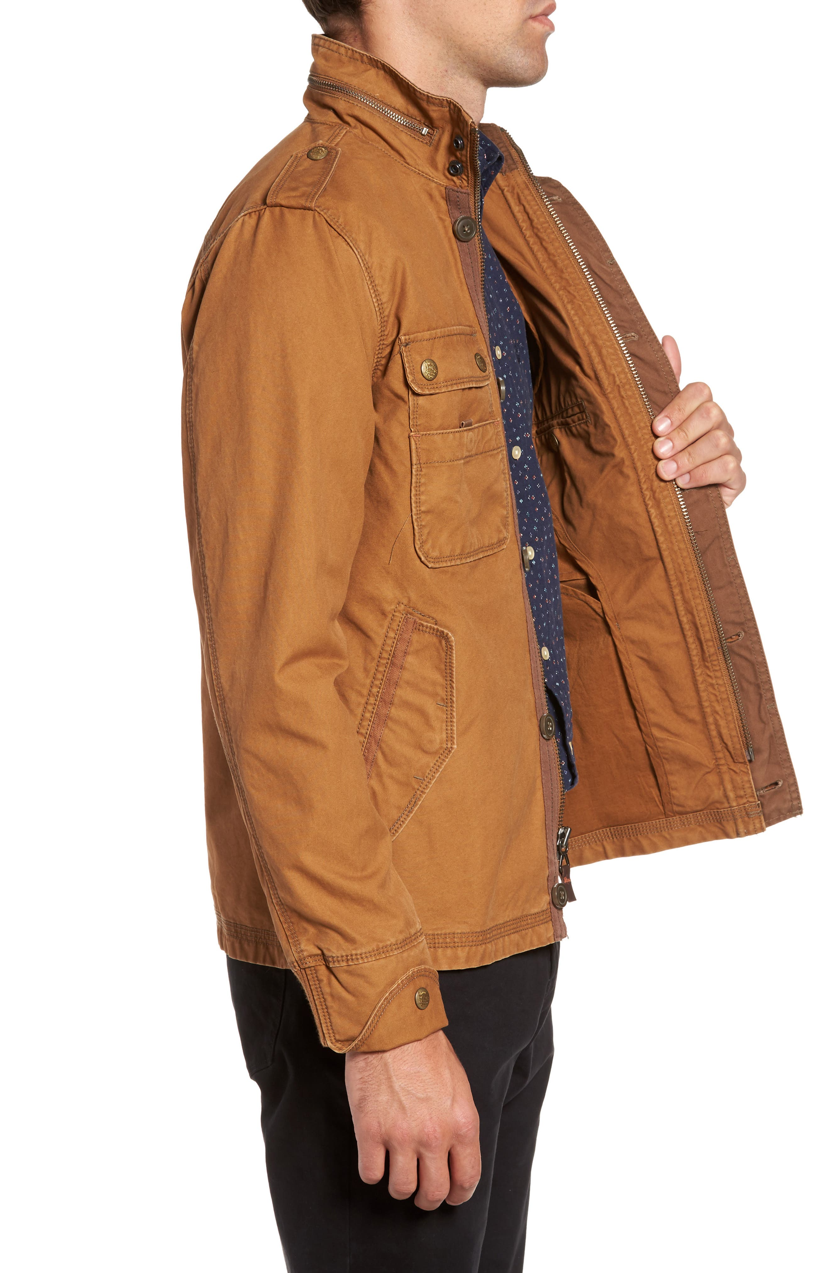 'Paxton' Military Jacket with Stowaway Hood,                             Alternate thumbnail 9, color,