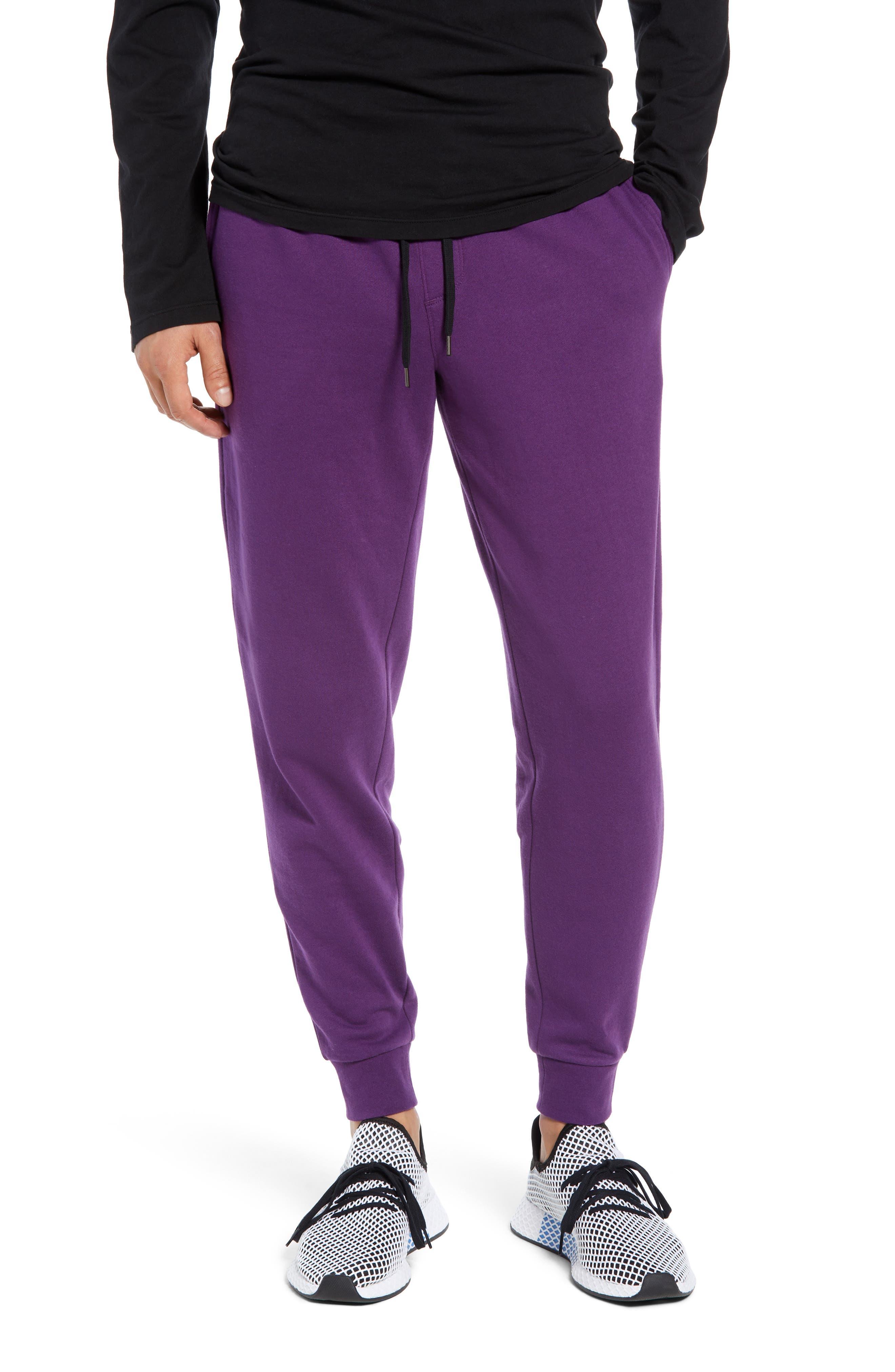 Fleece Jogger Pants,                         Main,                         color, PURPLE ROYAL