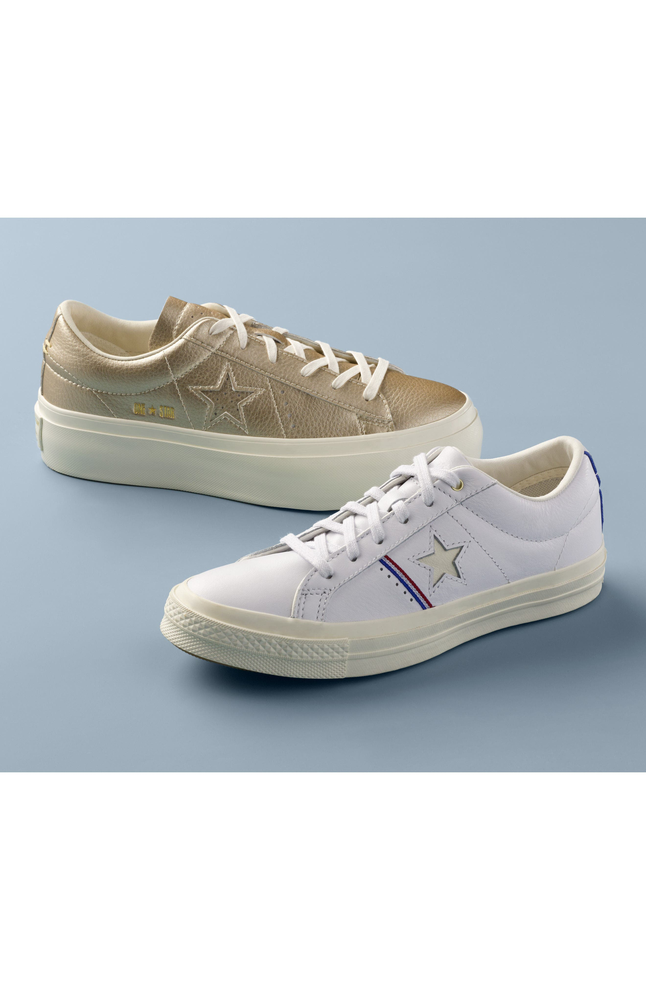 Chuck Taylor<sup>®</sup> All Star<sup>®</sup> One Star Metallic Platform Sneaker,                             Alternate thumbnail 12, color,
