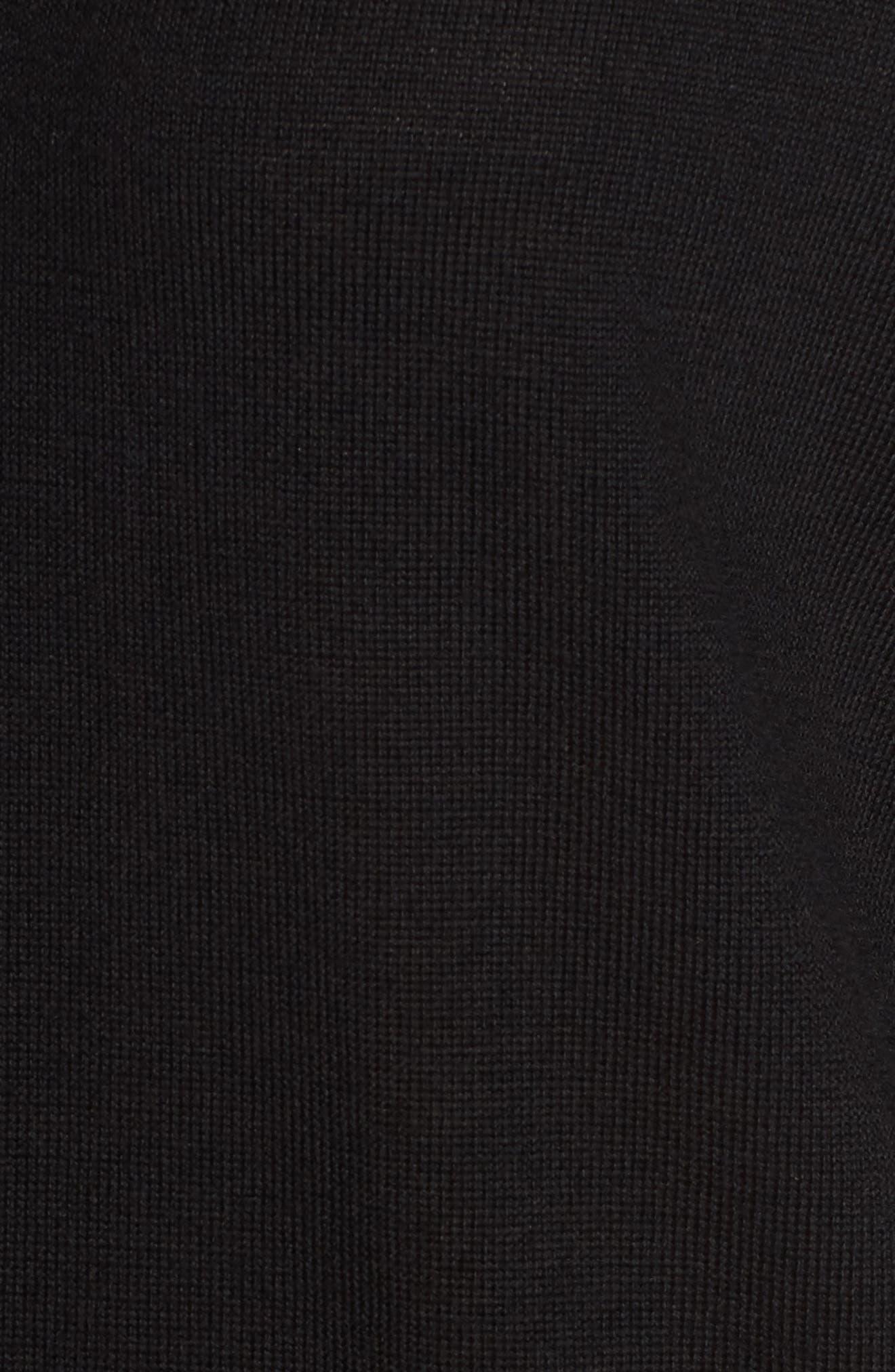 Metallic Trim Merino Wool Blend Sweater,                             Alternate thumbnail 5, color,