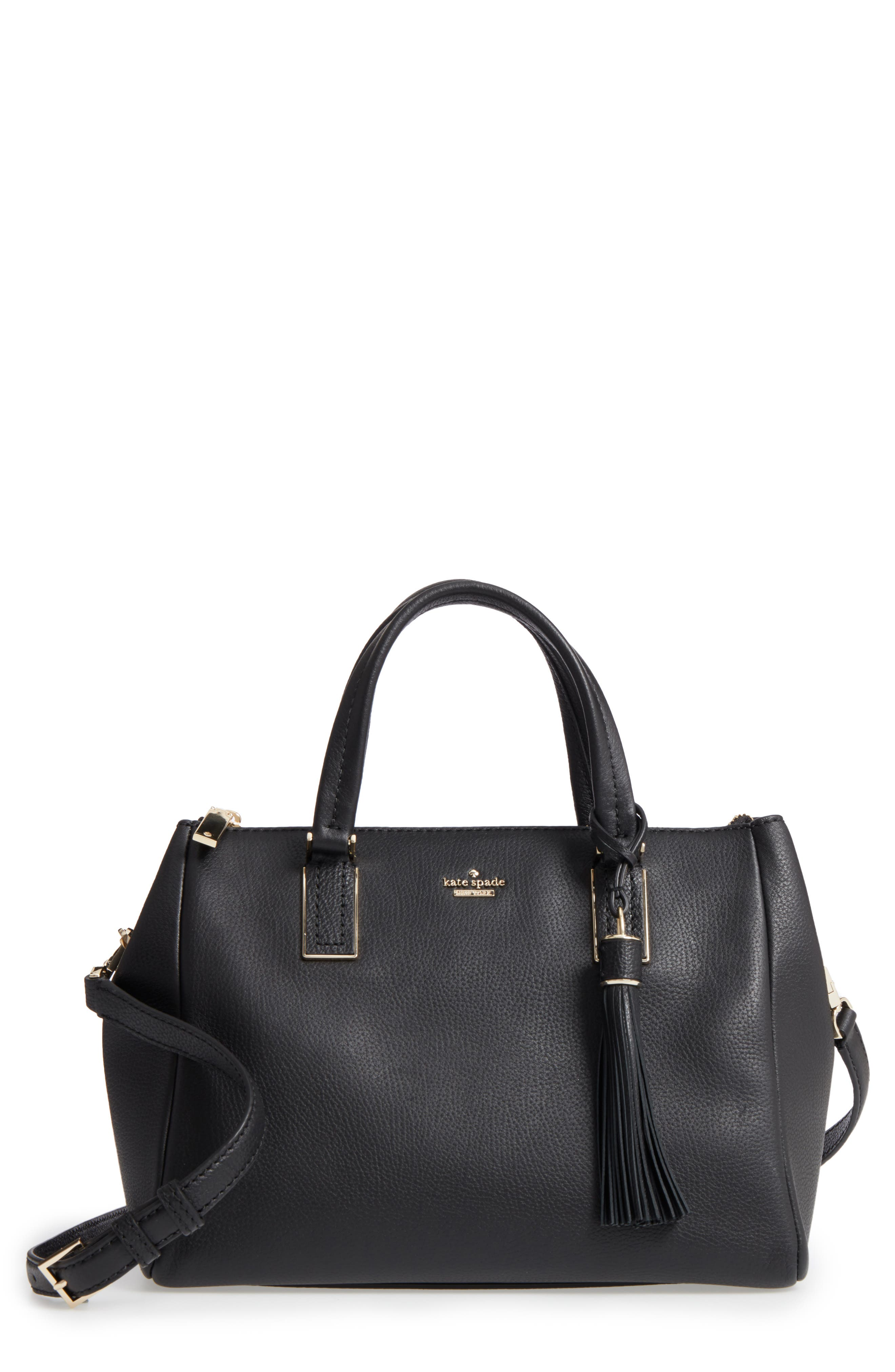 kingston drive - alena leather satchel,                         Main,                         color, 001