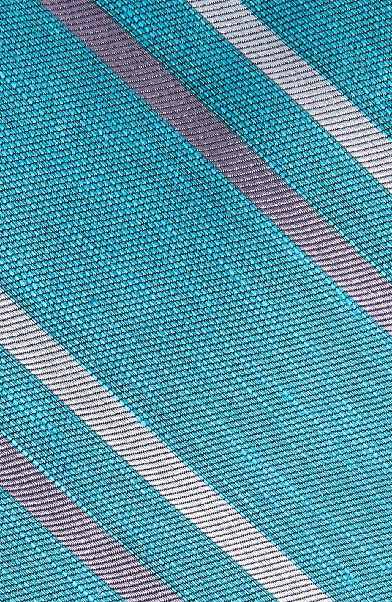 Pep Stripe Tie,                             Alternate thumbnail 2, color,                             AQUA