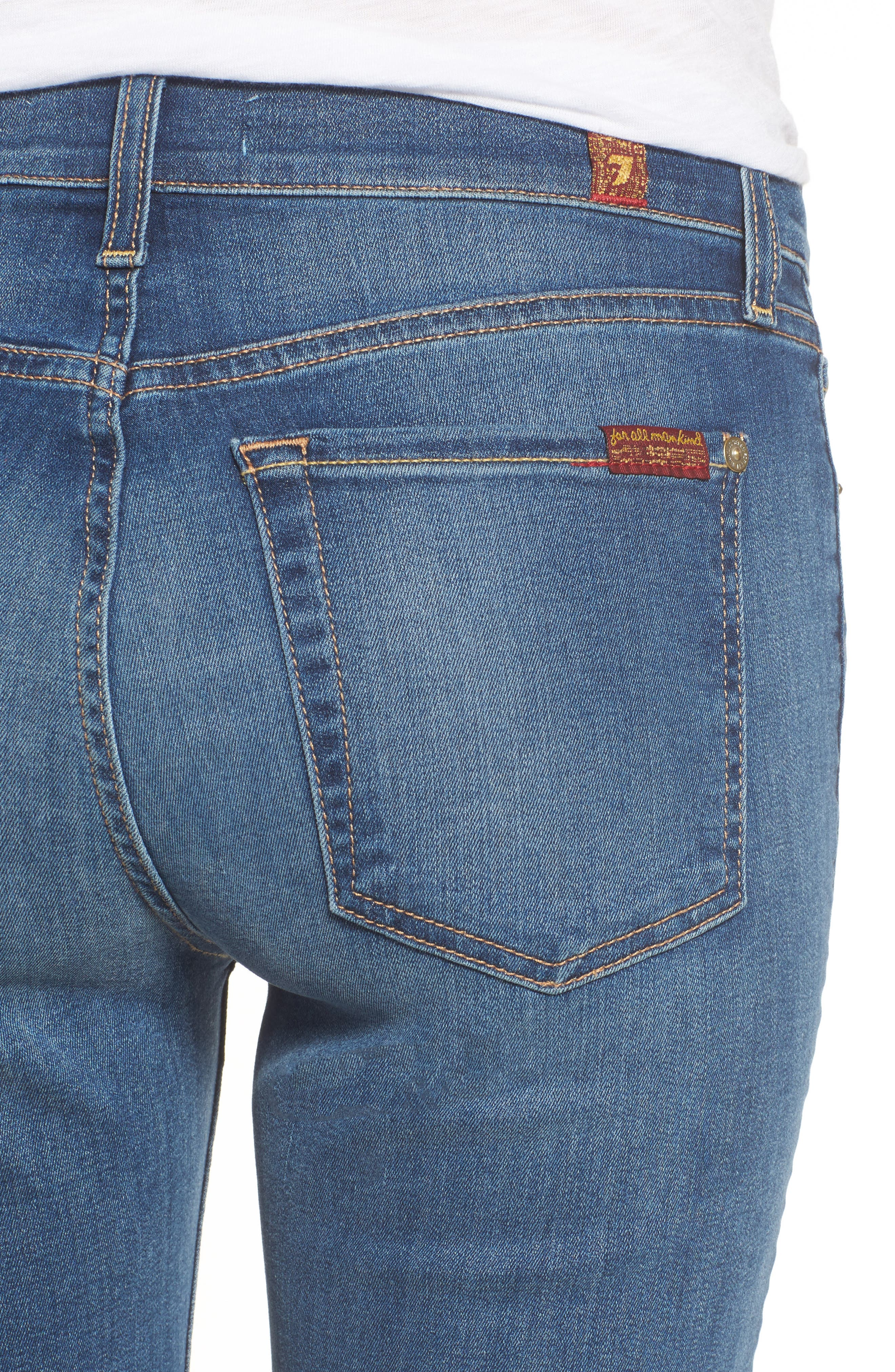 7 FOR ALL MANKIND<SUP>®</SUP>,                             b(air) Roxanne Ankle Straight Leg Jeans,                             Alternate thumbnail 4, color,                             BAIR VINTAGE DUSK