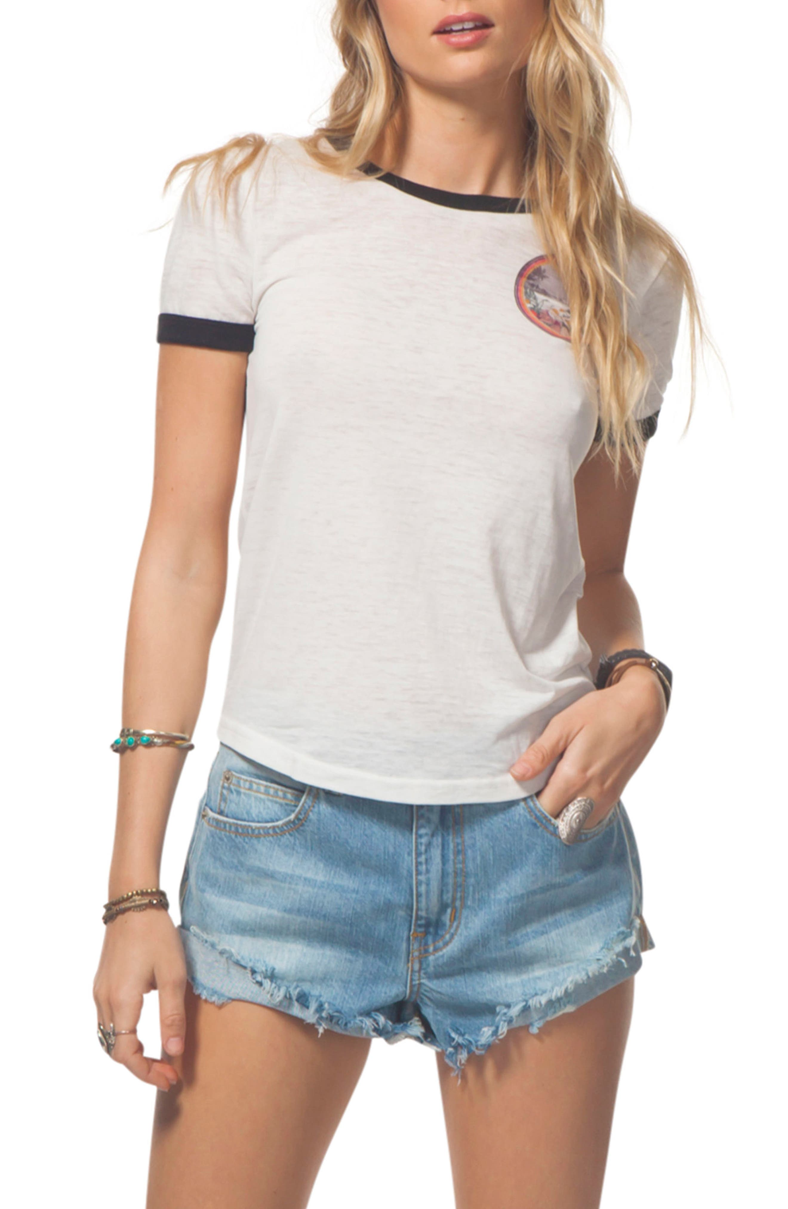 Graphic Ringer Tee,                             Main thumbnail 1, color,                             001