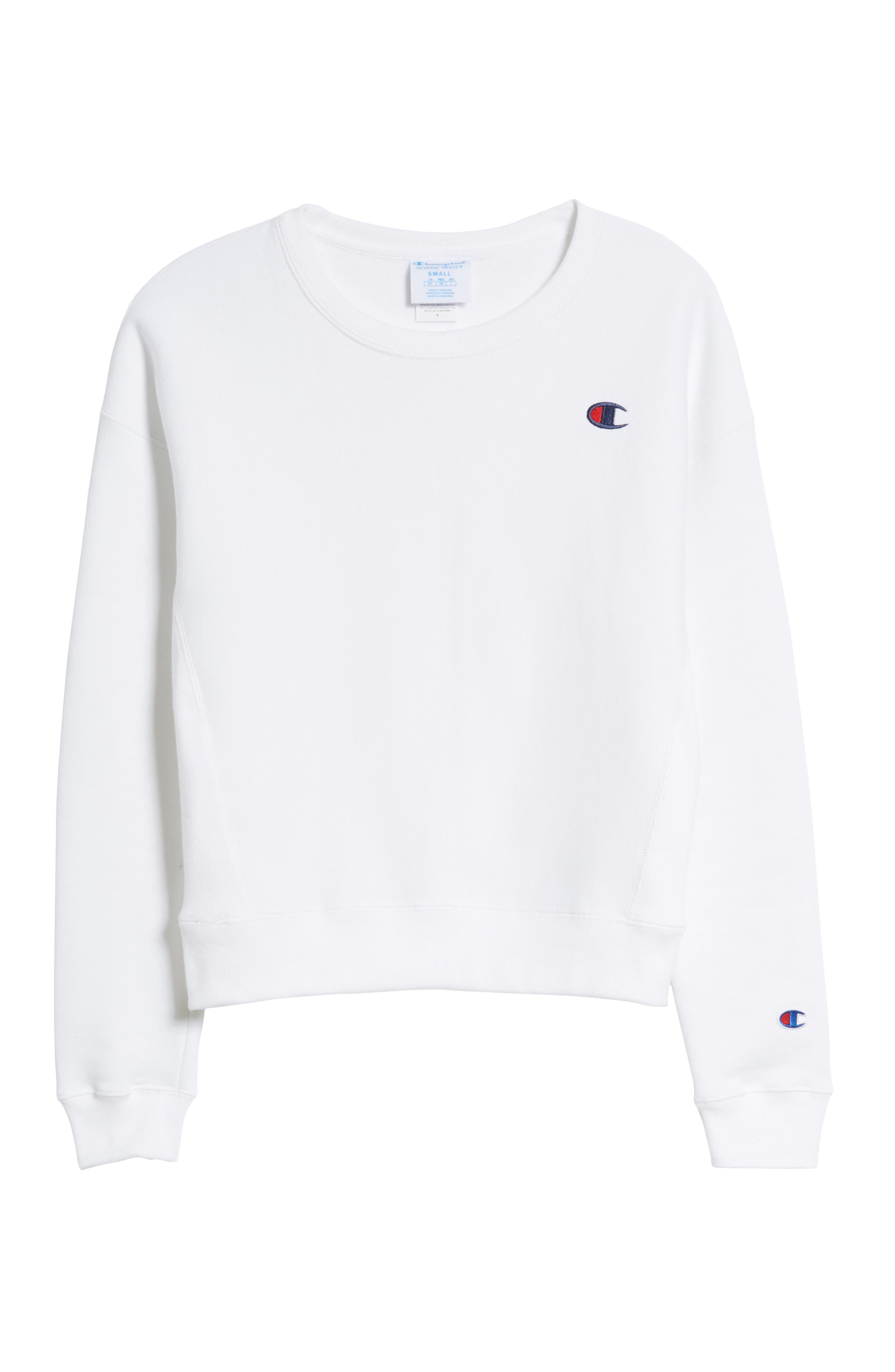Reverse Weave Crew Sweatshirt,                             Alternate thumbnail 7, color,                             100