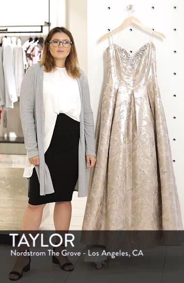 Bejeweled Neckline Strapless Ballgown, sales video thumbnail