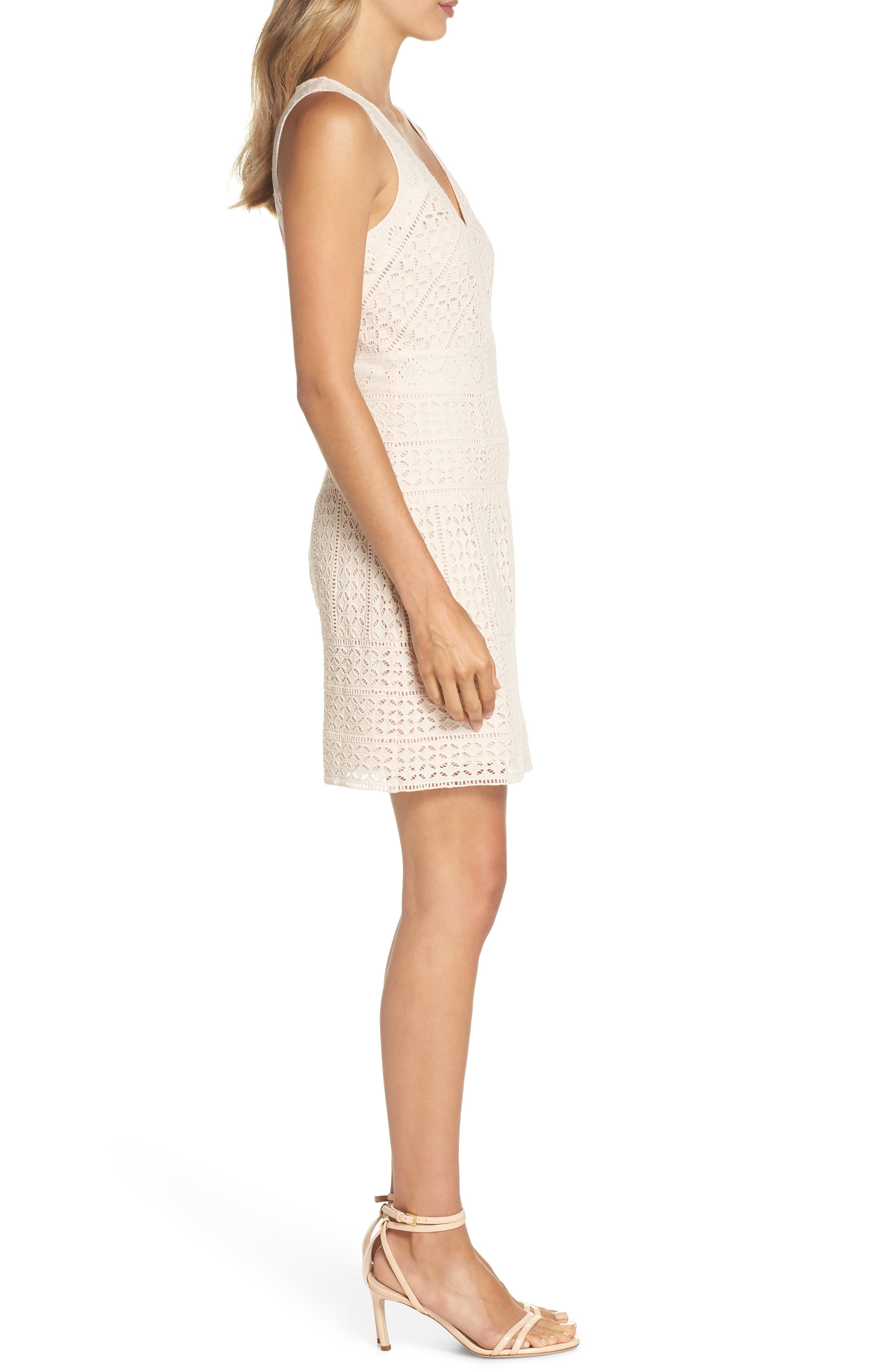 Schiffley Summer Cage Cotton Dress,                             Alternate thumbnail 3, color,                             687