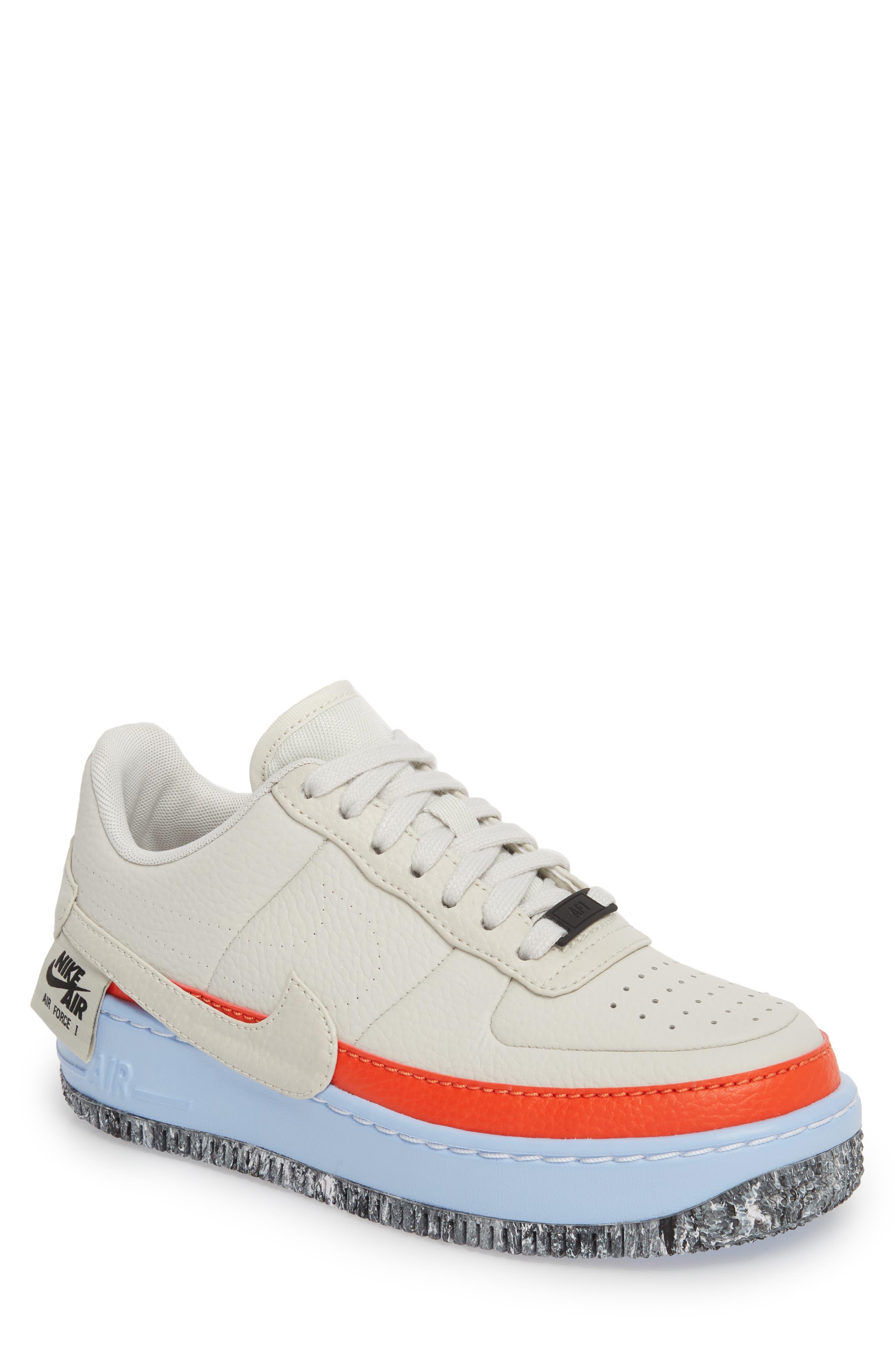 Air Force 1 Jester XX Sneaker,                             Main thumbnail 1, color,                             LIGHT BONE/ TEAM ORANGE