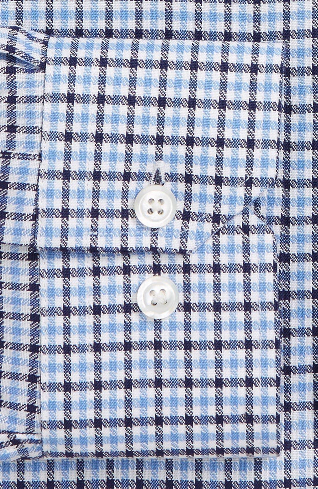 Trim Fit CheckDress Shirt,                             Alternate thumbnail 2, color,                             450