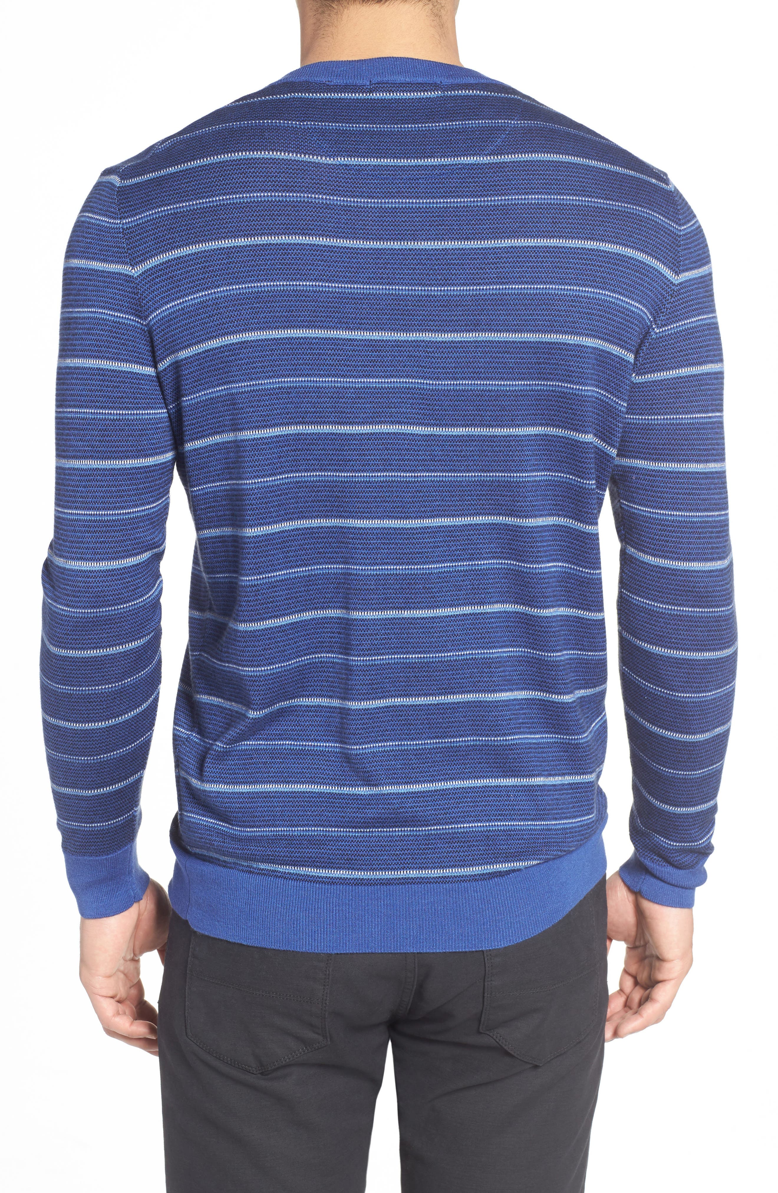 Stripe Silk Blend Sweater,                             Alternate thumbnail 2, color,                             411