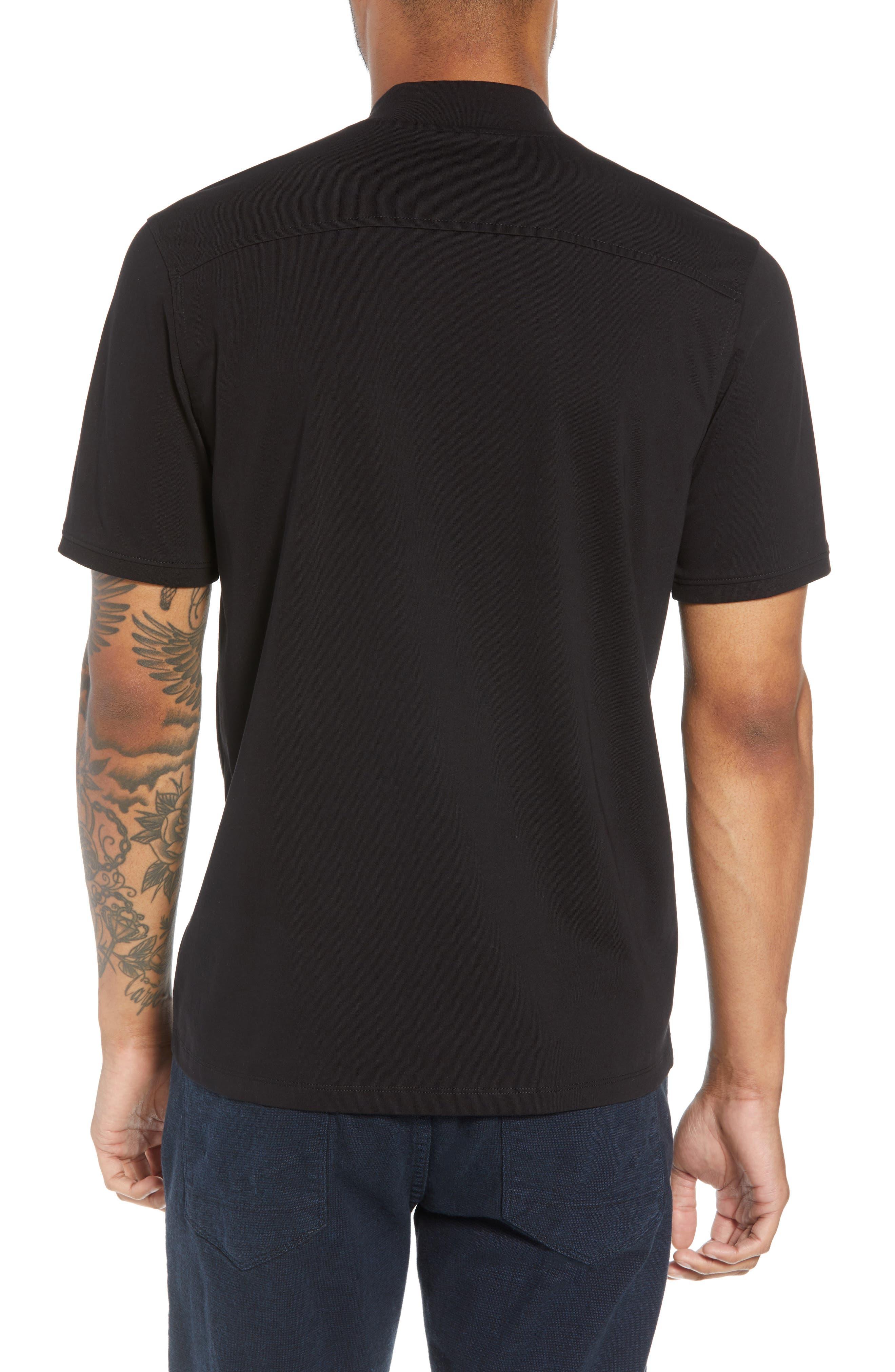 Trim Fit Henley T-Shirt,                             Alternate thumbnail 2, color,                             001