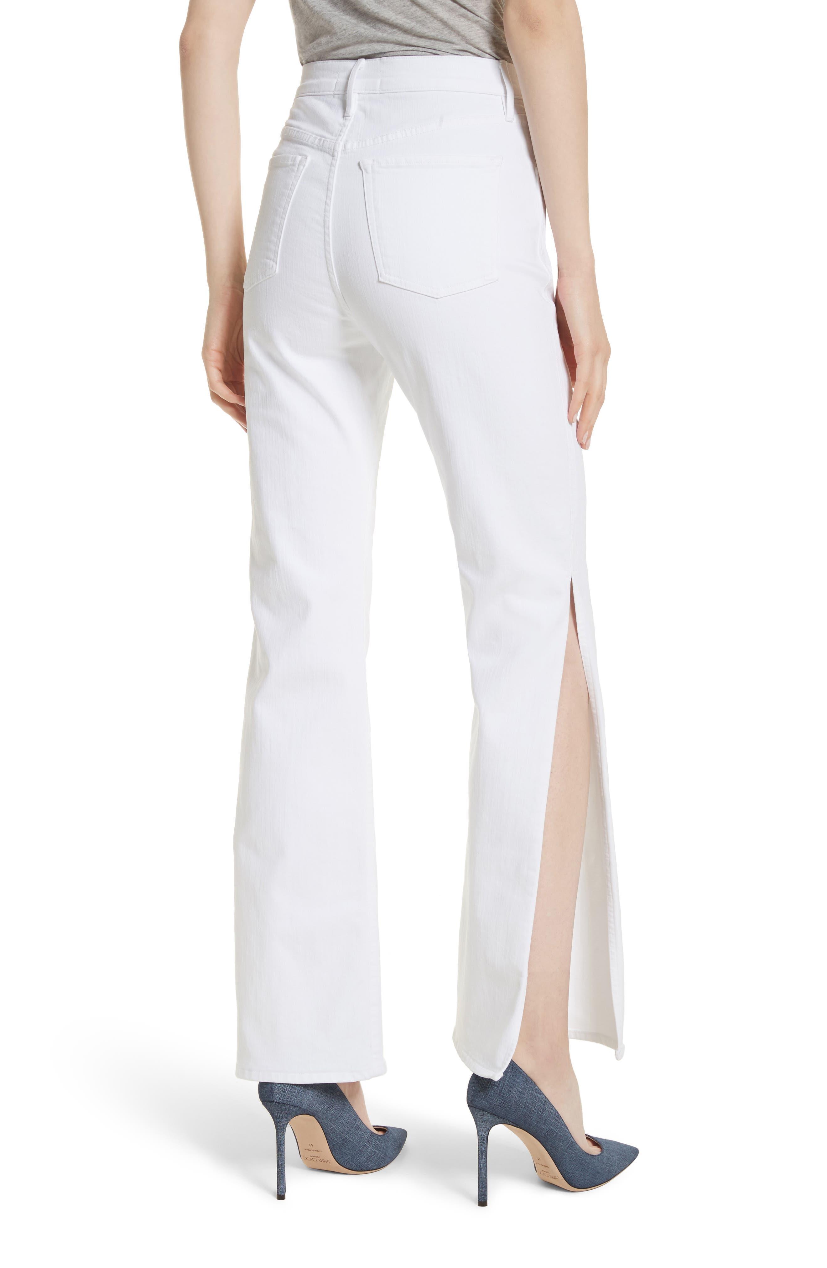 W4 Adeline Split Leg Flare Jeans,                             Alternate thumbnail 2, color,                             ASPRO