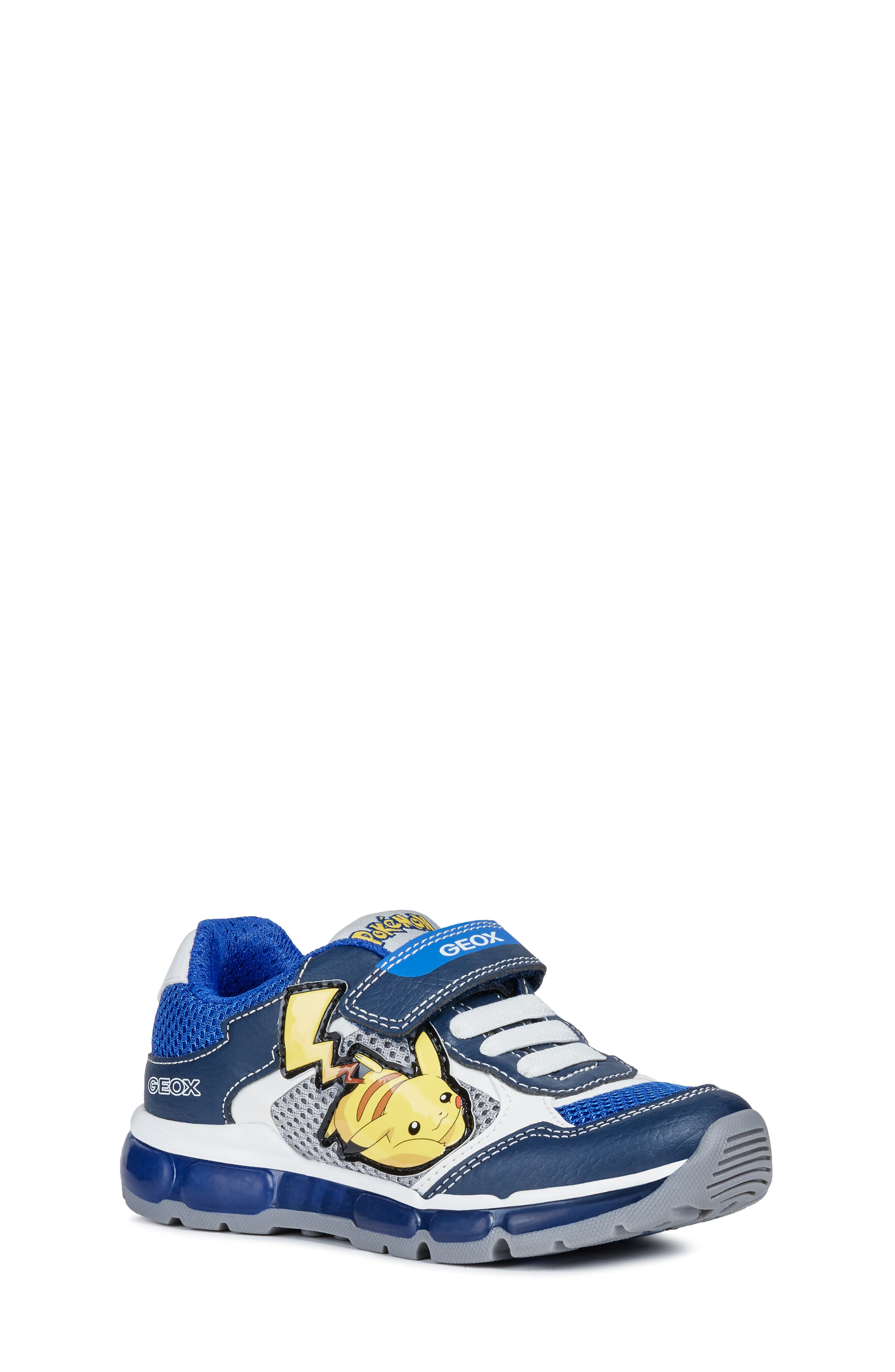 Boys Geox Jr Android LightUp Sneaker Size 4US  36EU  Blue