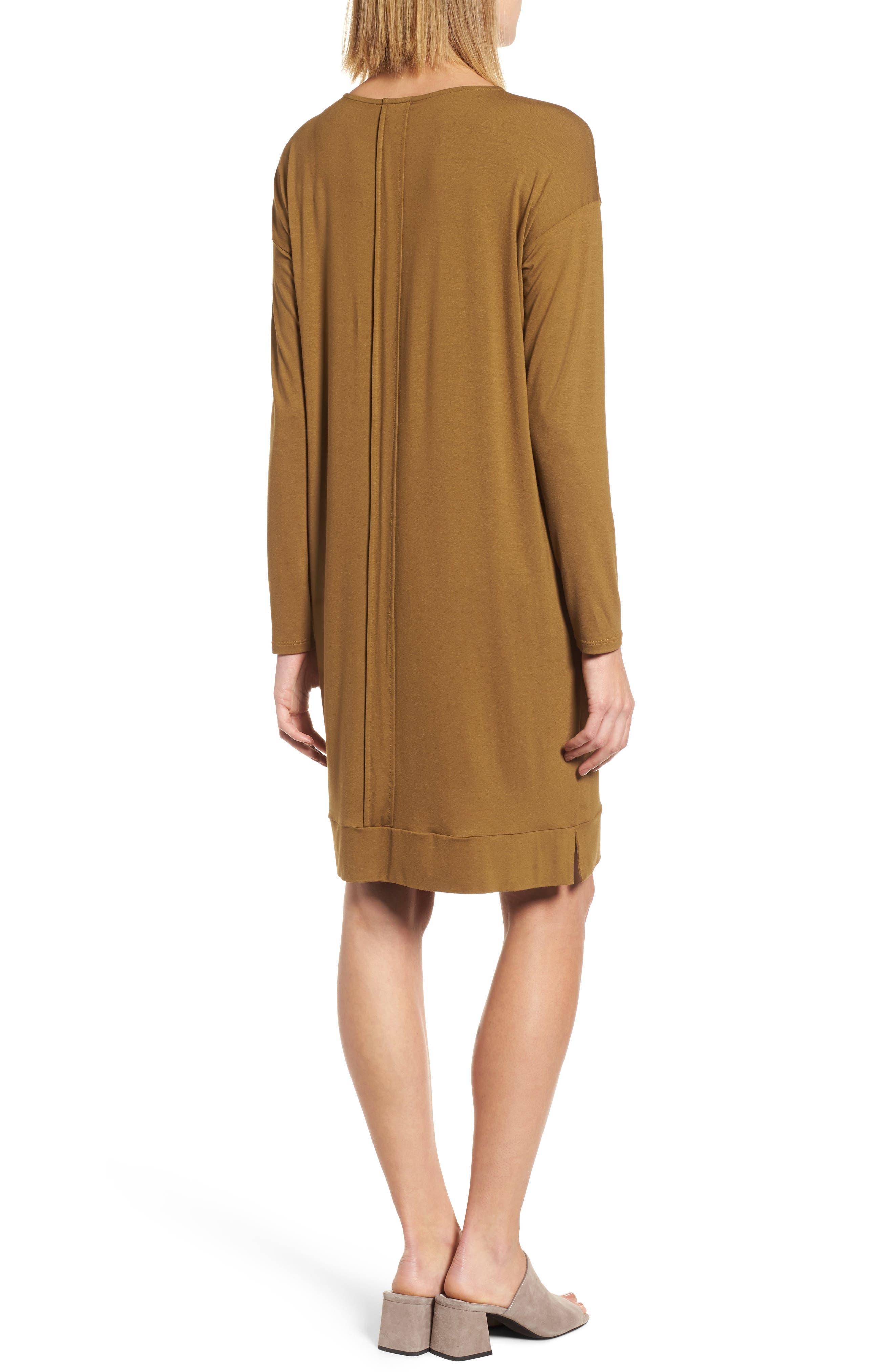 Long Sleeve Jersey Shift Dress,                             Alternate thumbnail 4, color,