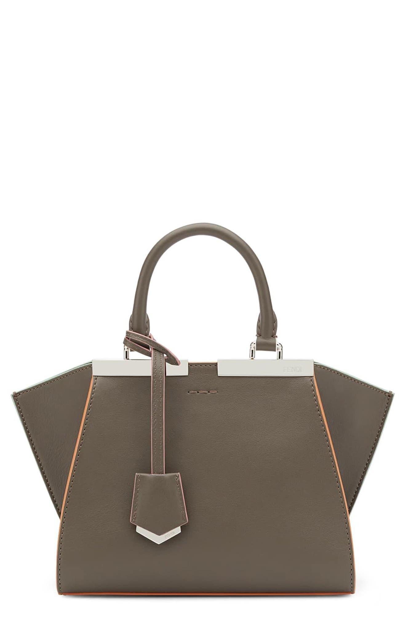 'Mini 3Jours' Calfskin Leather Shopper,                             Alternate thumbnail 7, color,