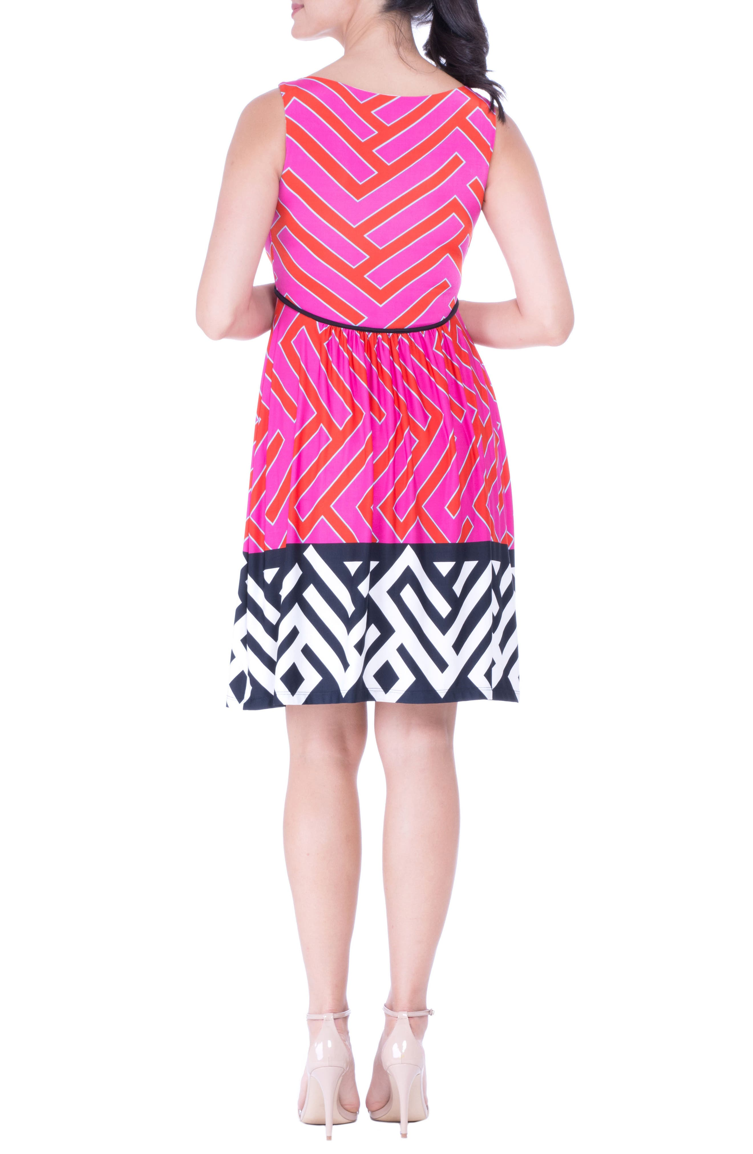 Maternity Tank Dress,                             Alternate thumbnail 2, color,                             FUCHSIA
