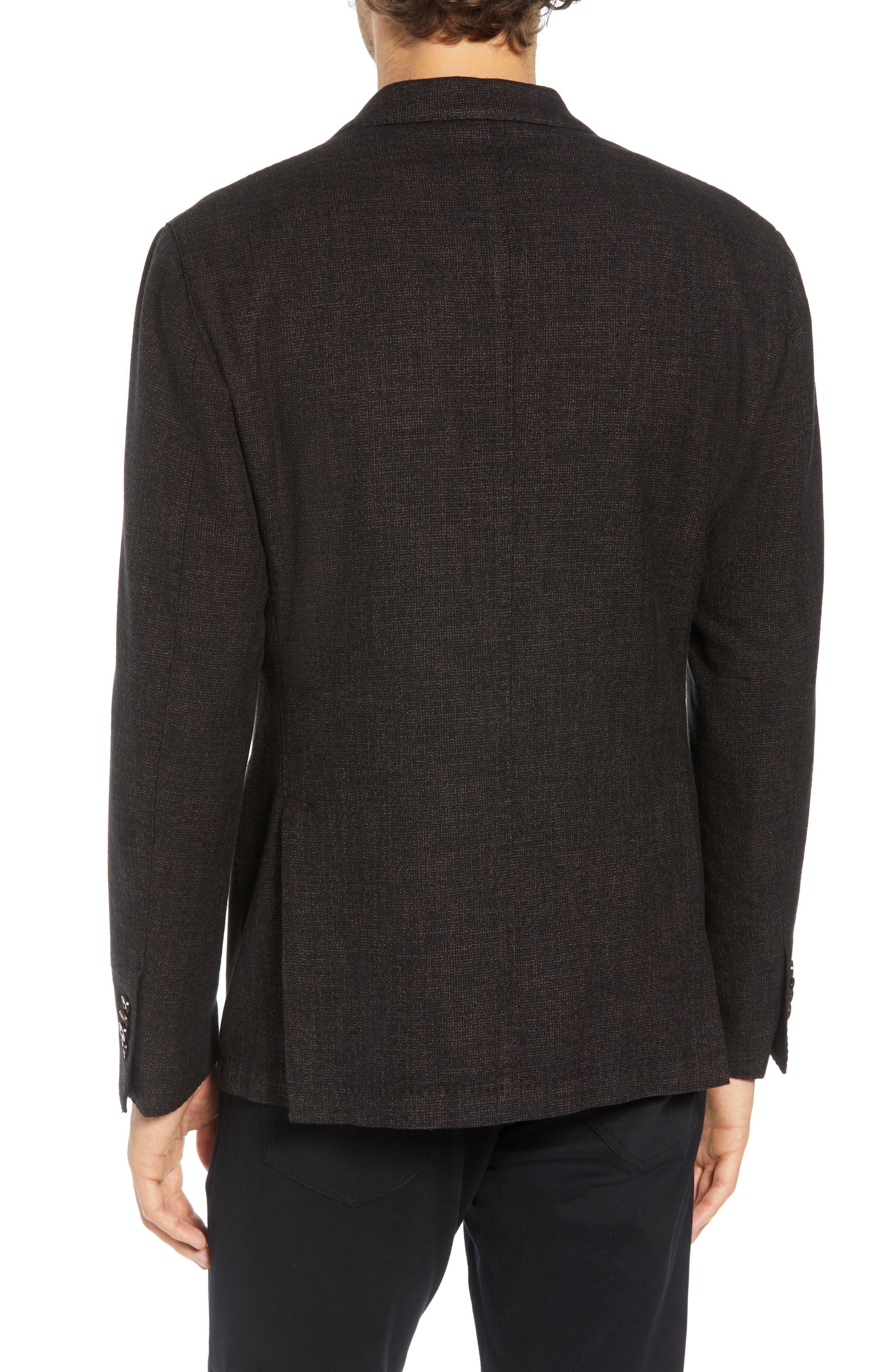 L.B.M 1911 Classic Fit Cotton & Wool Blazer,                             Alternate thumbnail 2, color,                             BROWN