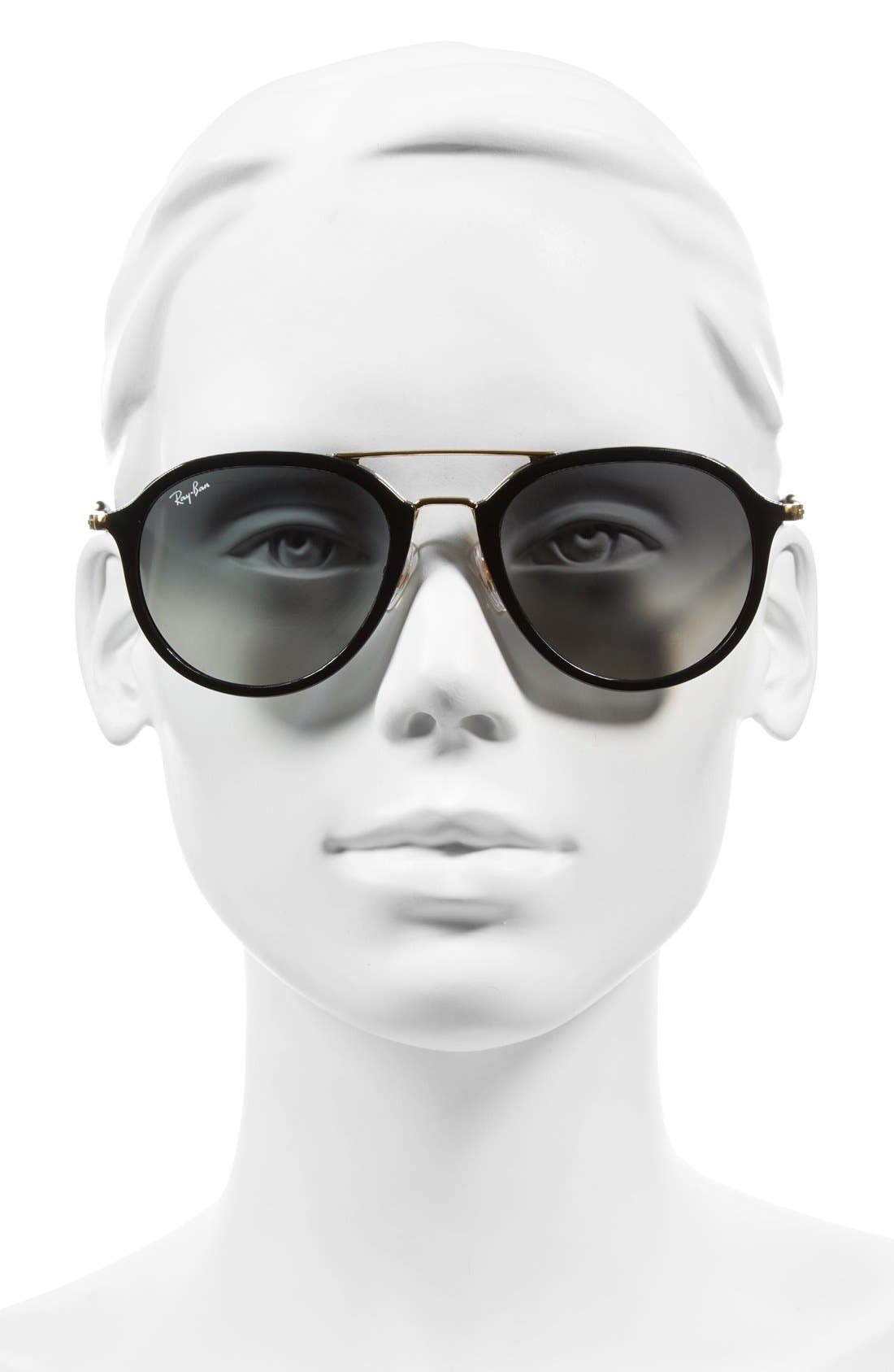 53mm Aviator Sunglasses,                             Alternate thumbnail 2, color,                             001