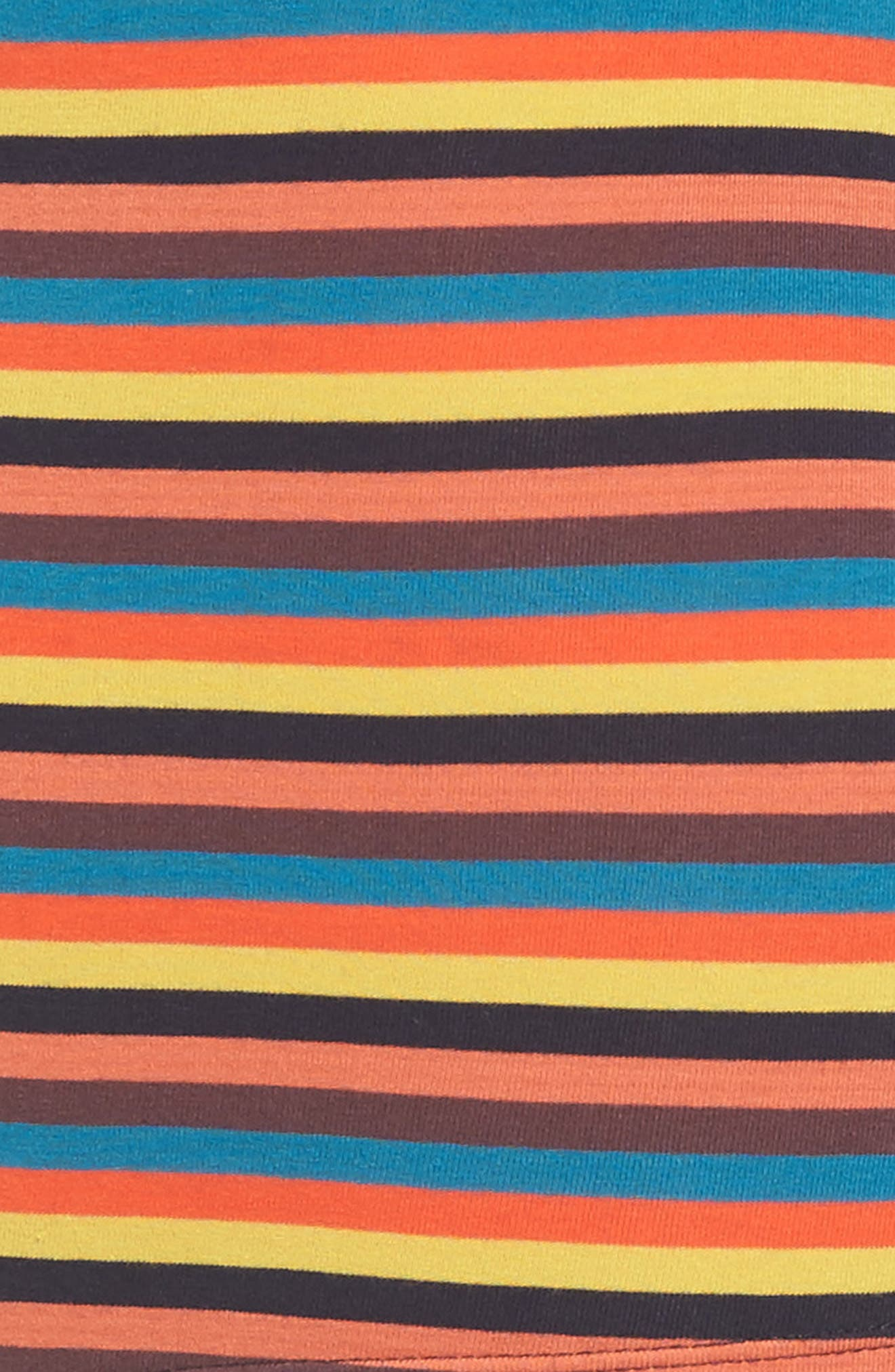 Stripe Stretch Cotton Trunks,                             Alternate thumbnail 4, color,                             ORANGE/ BLACK MULTI