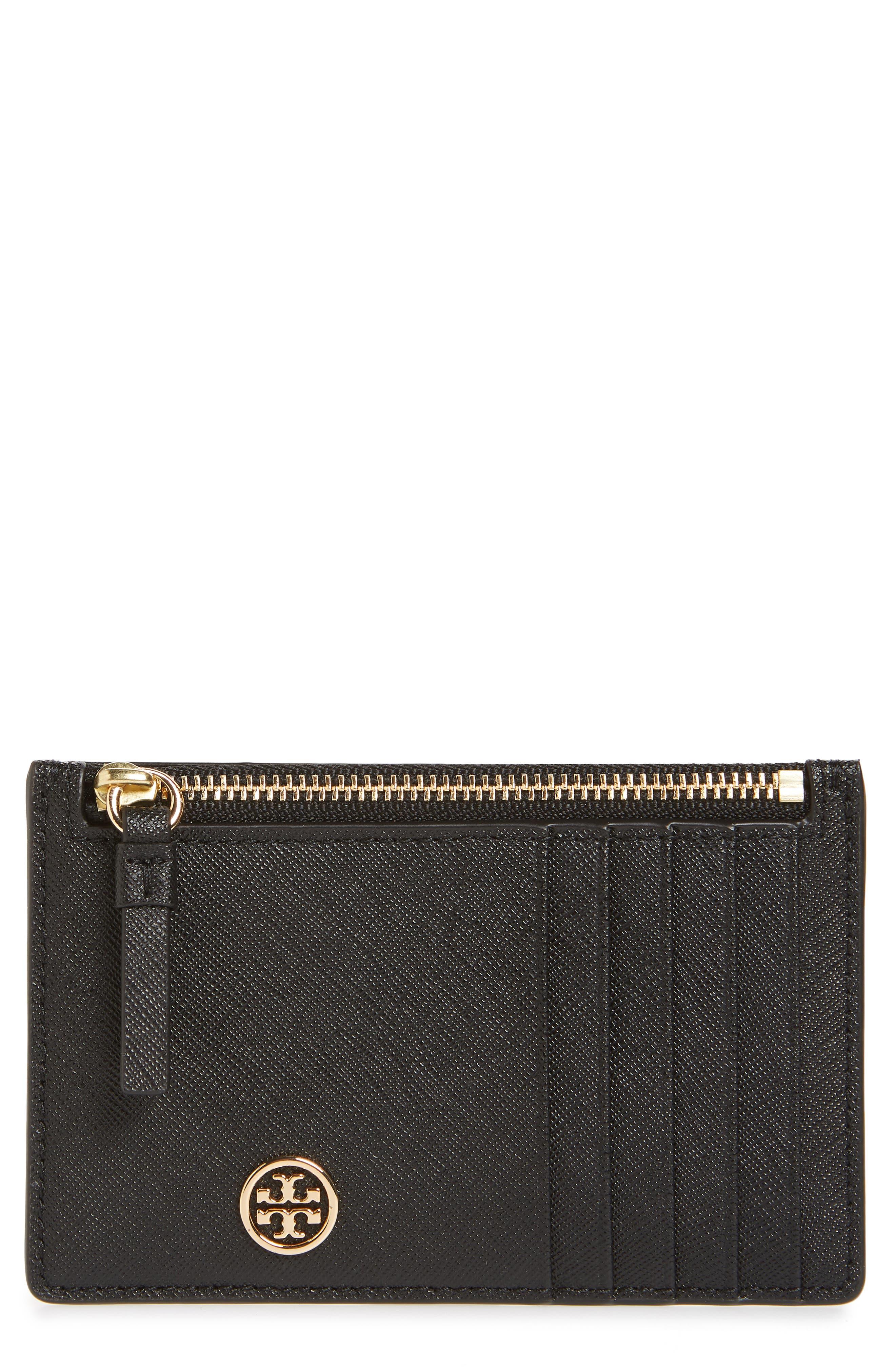 Robinson Leather Card Case,                         Main,                         color, BLACK