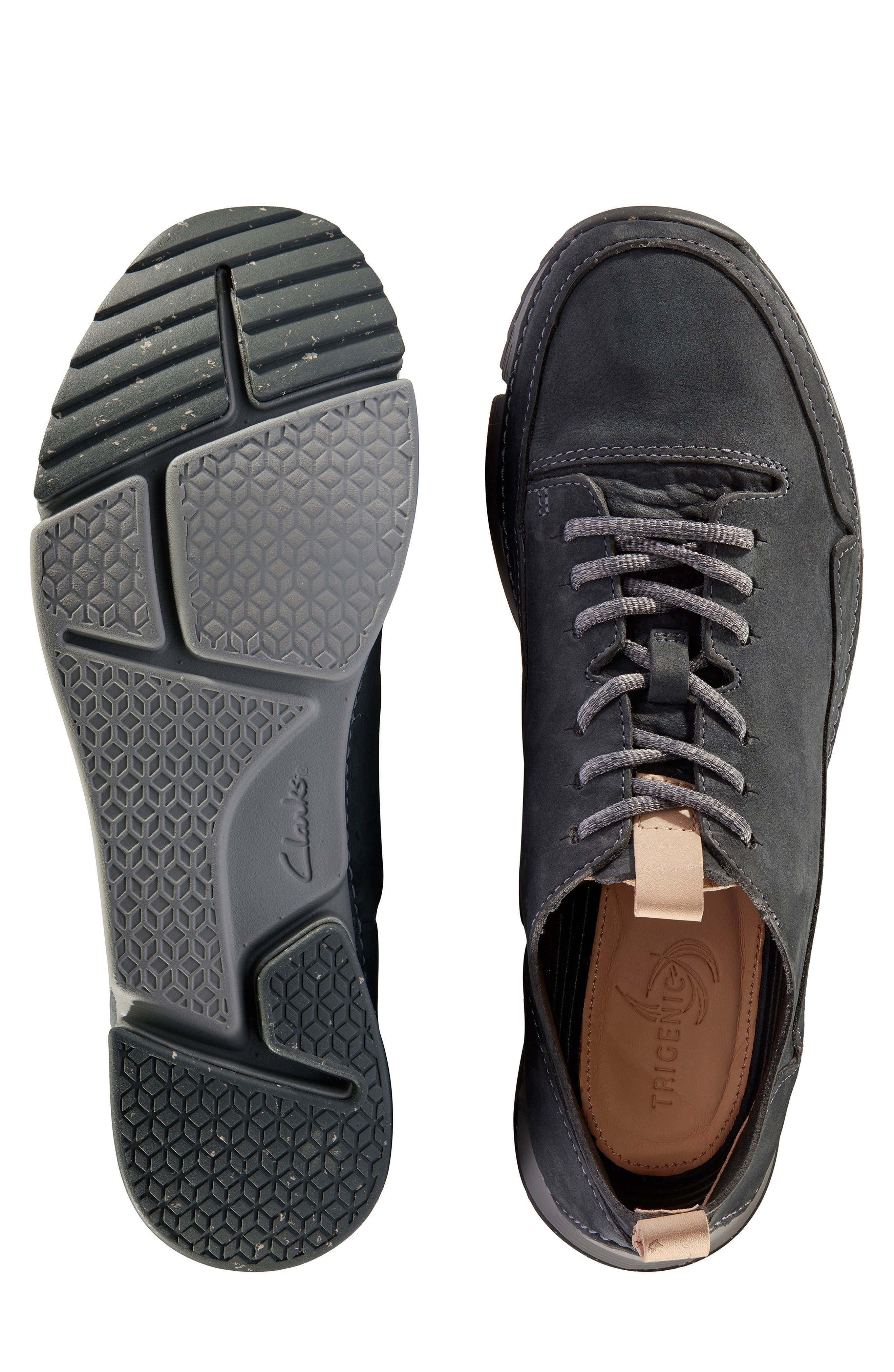 Tri Active Run Sneaker,                             Alternate thumbnail 5, color,                             GREY LEATHER
