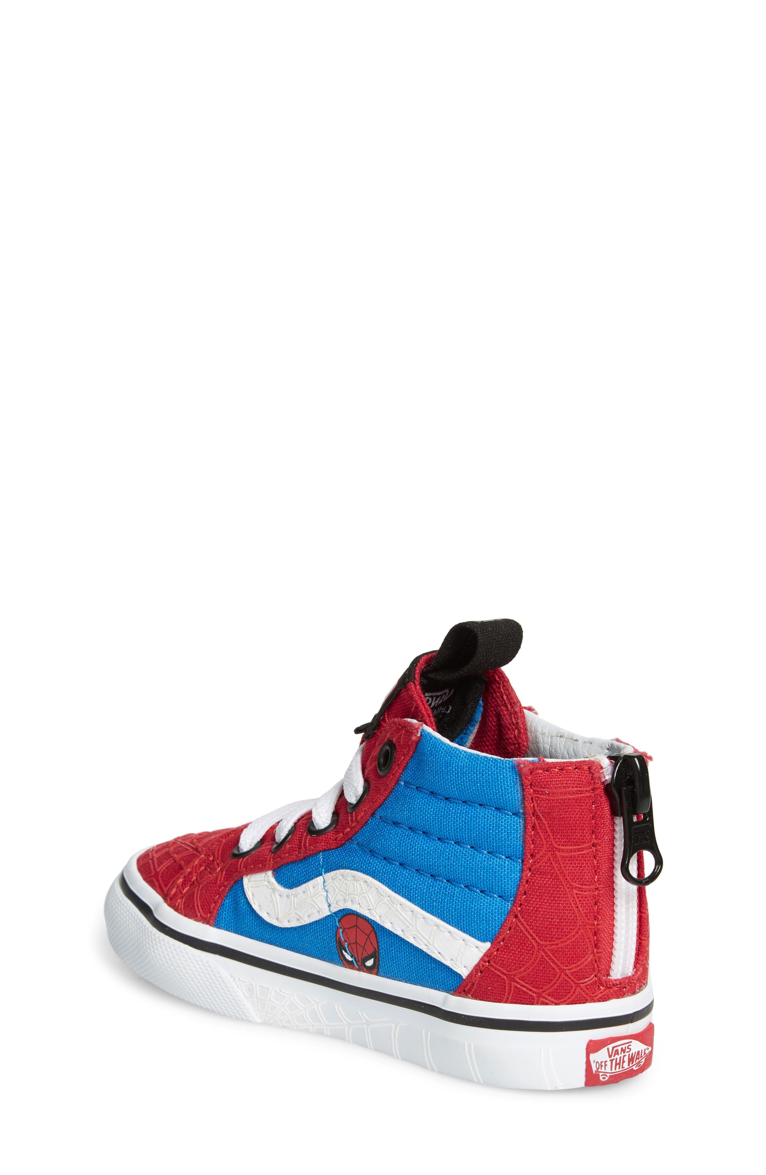 x Marvel<sup>®</sup> Spider-Man SK8-Hi Sneaker,                             Alternate thumbnail 2, color,