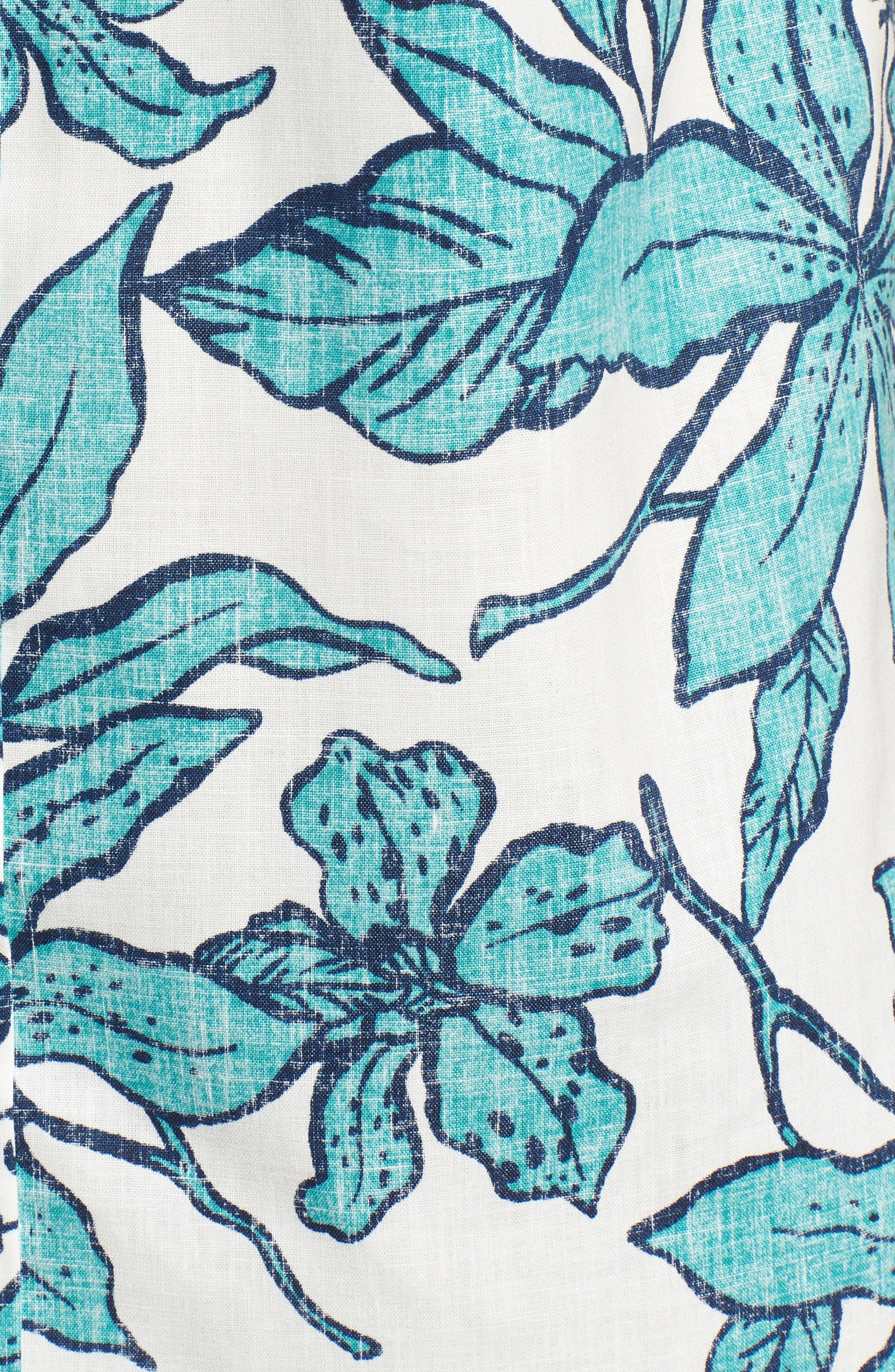 Luhiehu Tailored Fit Print Camp Shirt,                             Alternate thumbnail 5, color,                             104