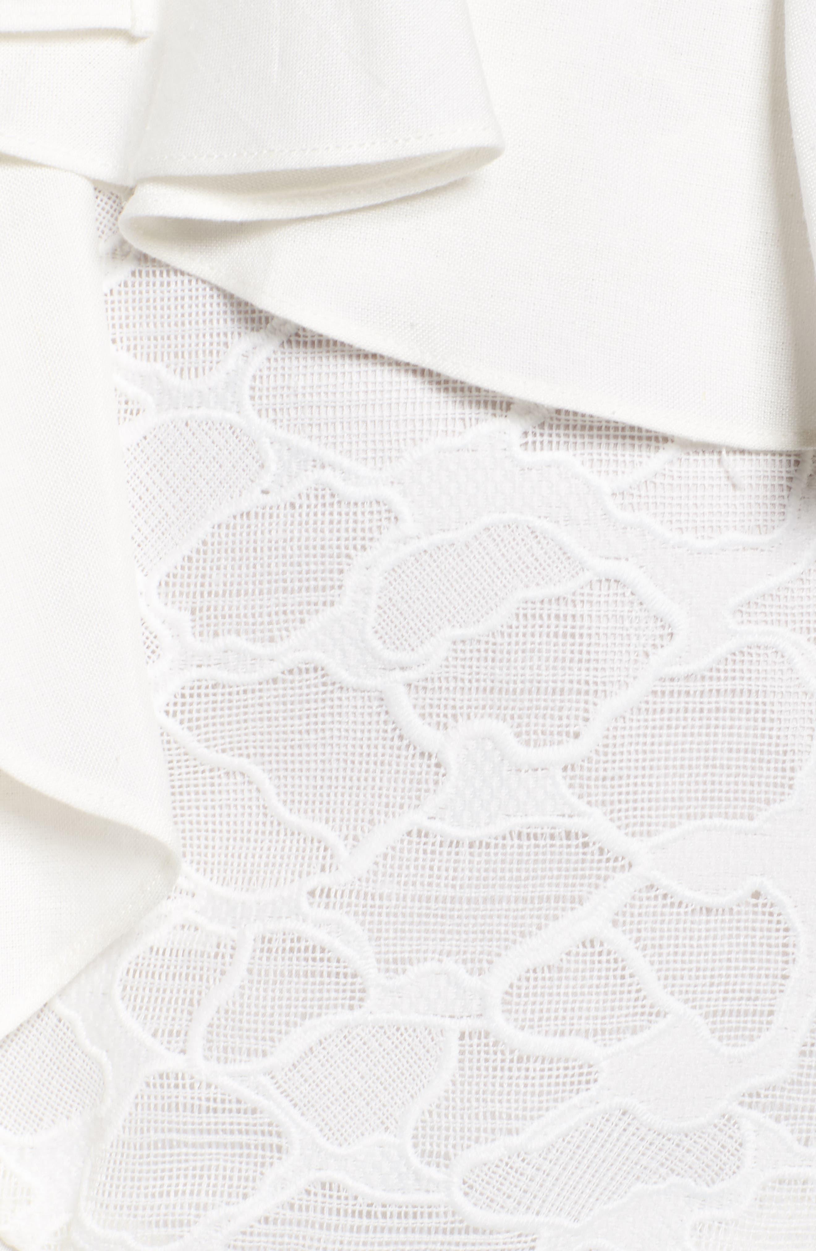 Phase Ruffle Lace Minidress,                             Alternate thumbnail 5, color,                             902