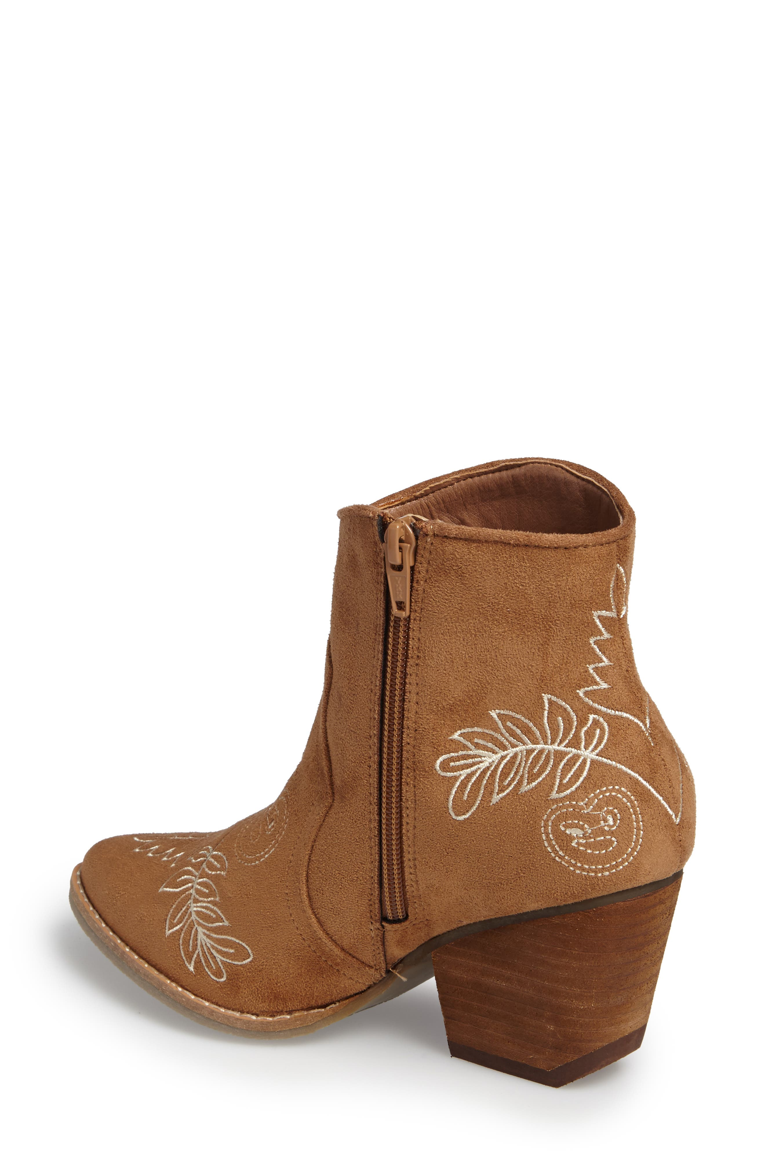 Axis Embroidered Bootie,                             Alternate thumbnail 3, color,