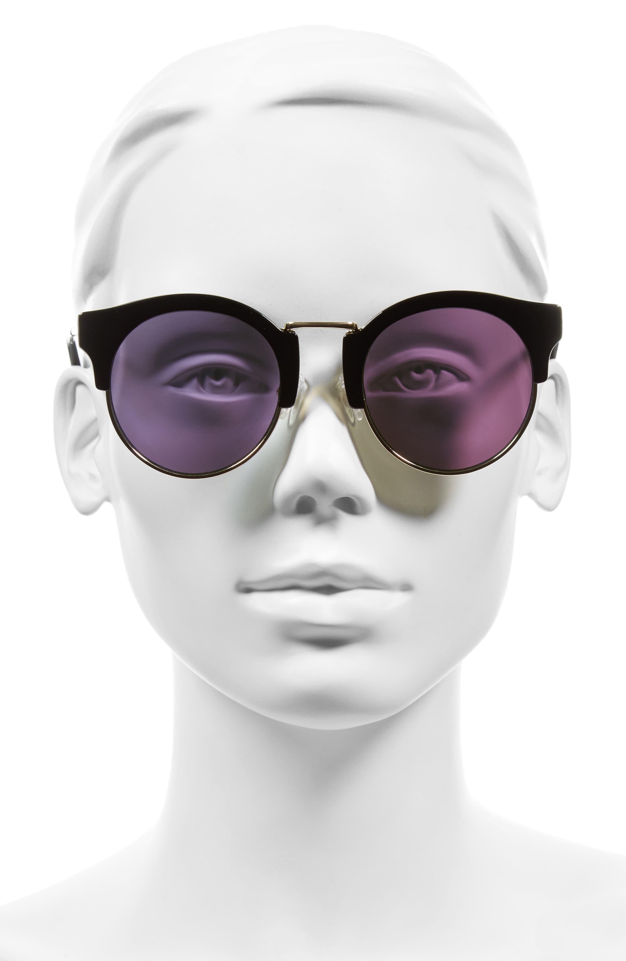 Broadway 51mm Retro Sunglasses,                             Alternate thumbnail 4, color,