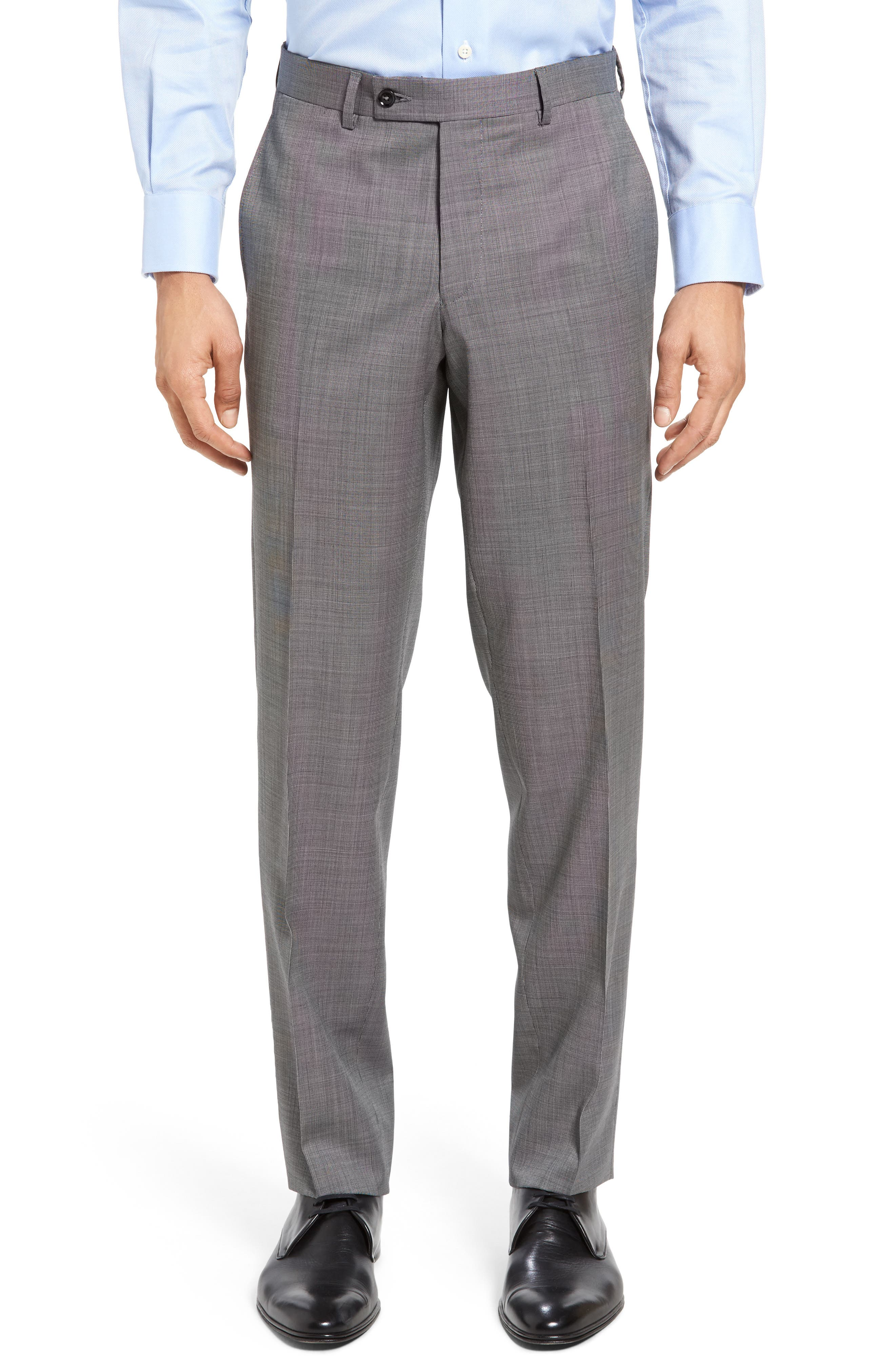 Jay Trim Fit Solid Wool Suit,                             Alternate thumbnail 11, color,                             LIGHT GREY