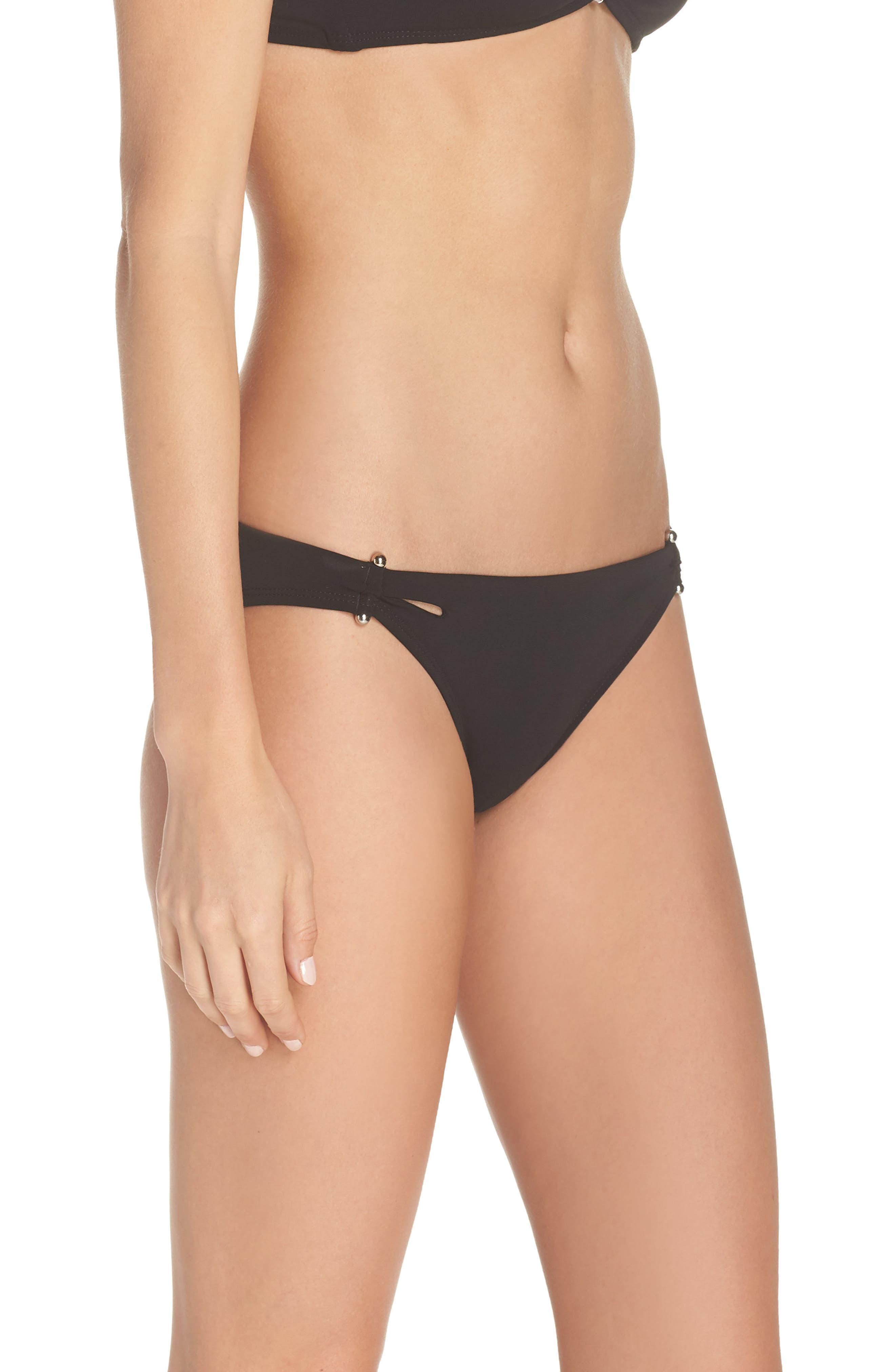 Ava Bikini Bottoms,                             Alternate thumbnail 3, color,                             BLACK
