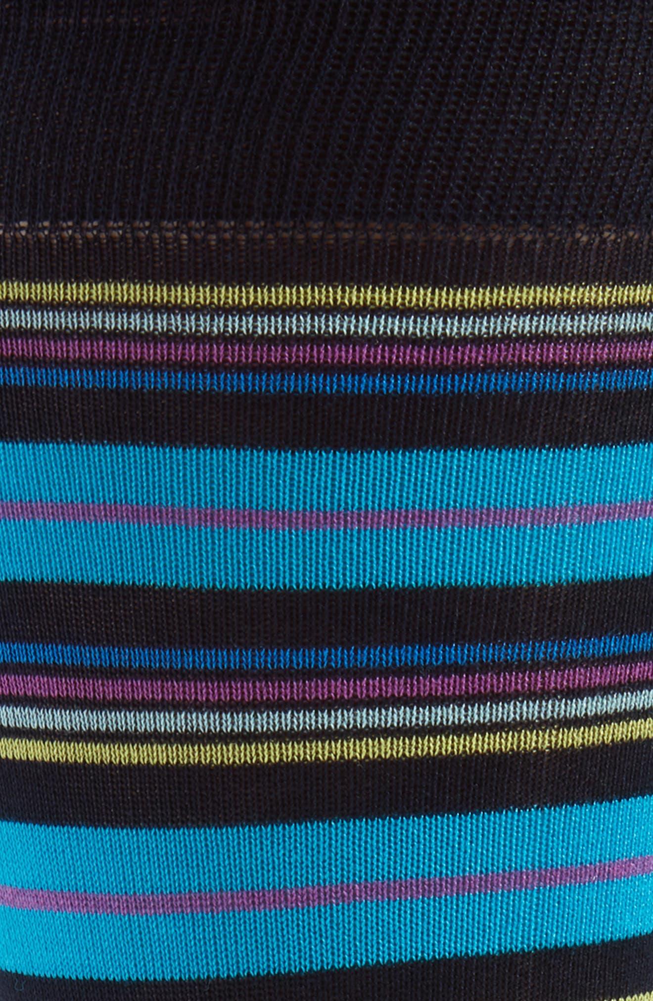 Multistripe Socks,                             Alternate thumbnail 2, color,                             NAVY