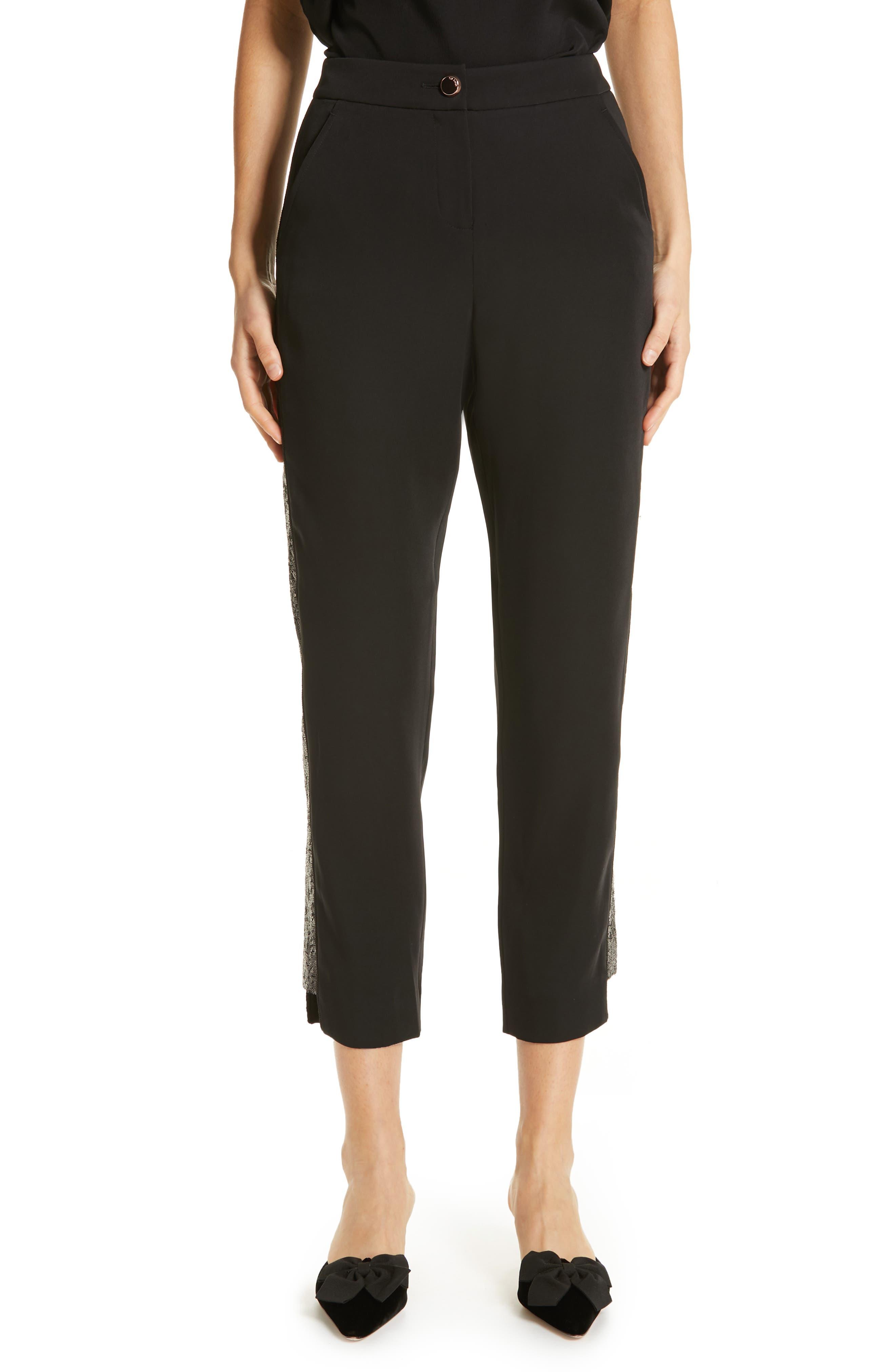 Polliit Sequin Side Panel Pants,                             Main thumbnail 1, color,                             BLACK