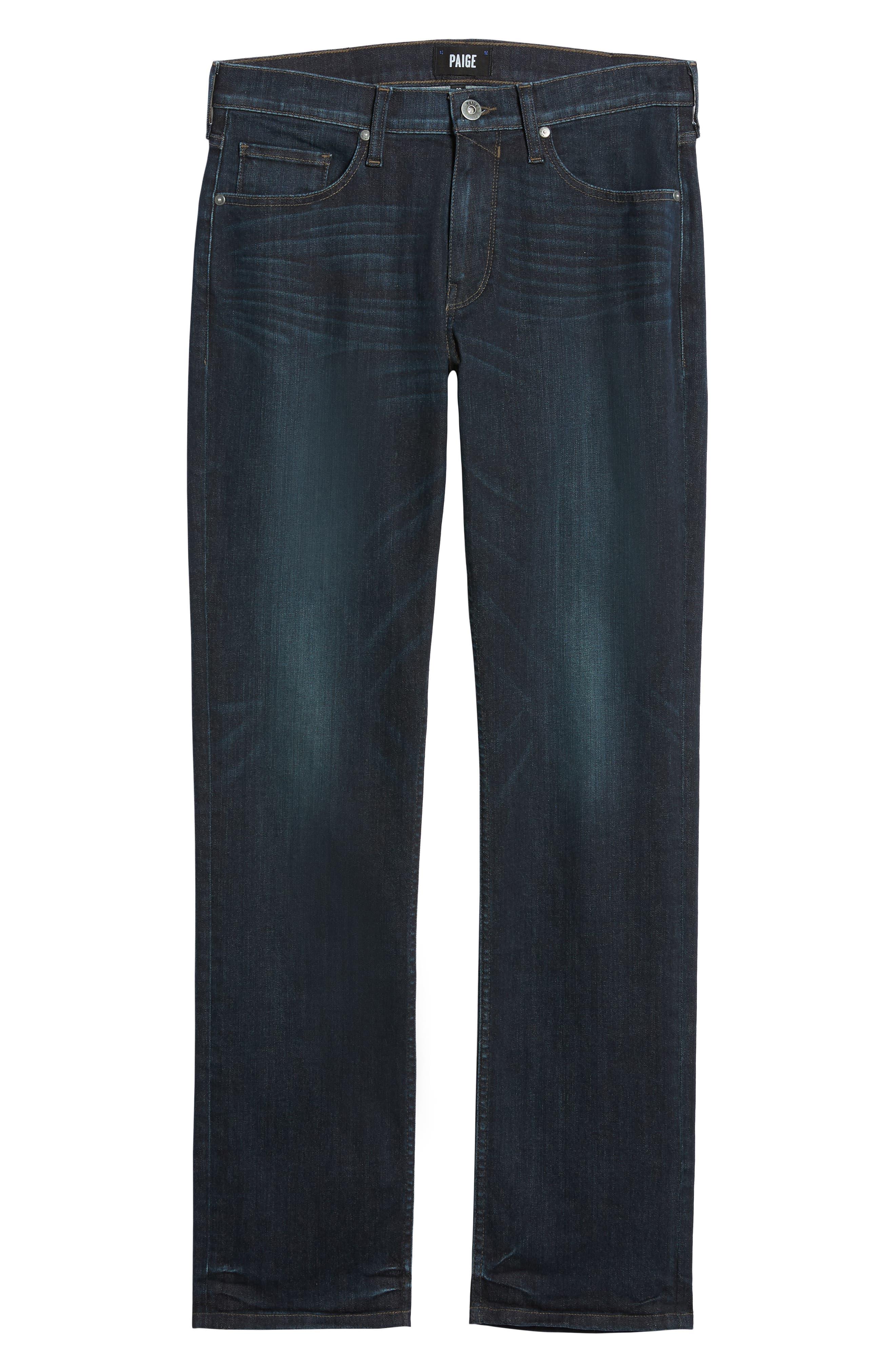 Transcend - Normandie Straight Leg Jeans,                             Alternate thumbnail 6, color,                             KENAN