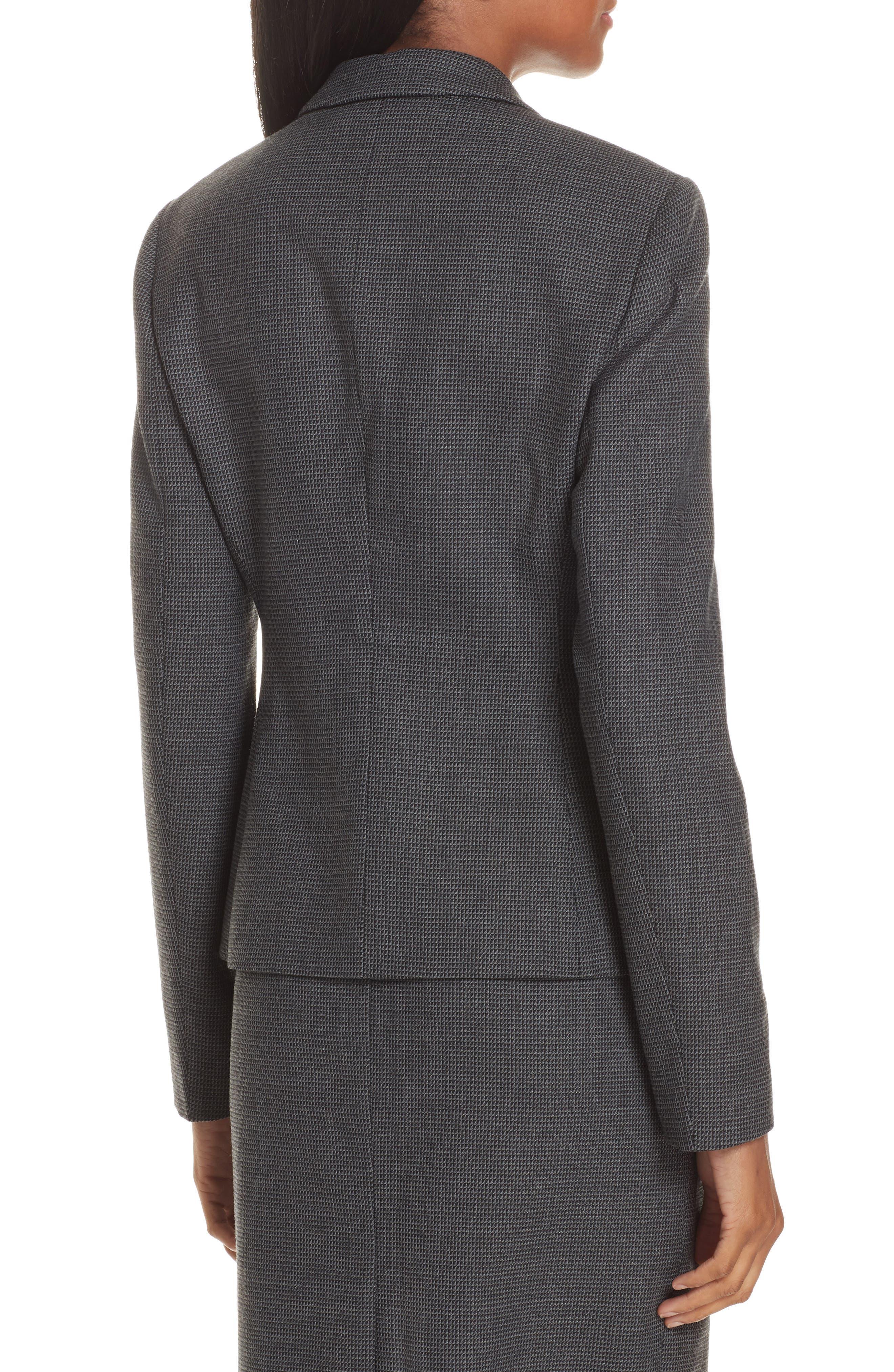Jorita Geometric Wool Blend Suit Jacket,                             Alternate thumbnail 2, color,                             GREY FANTASY