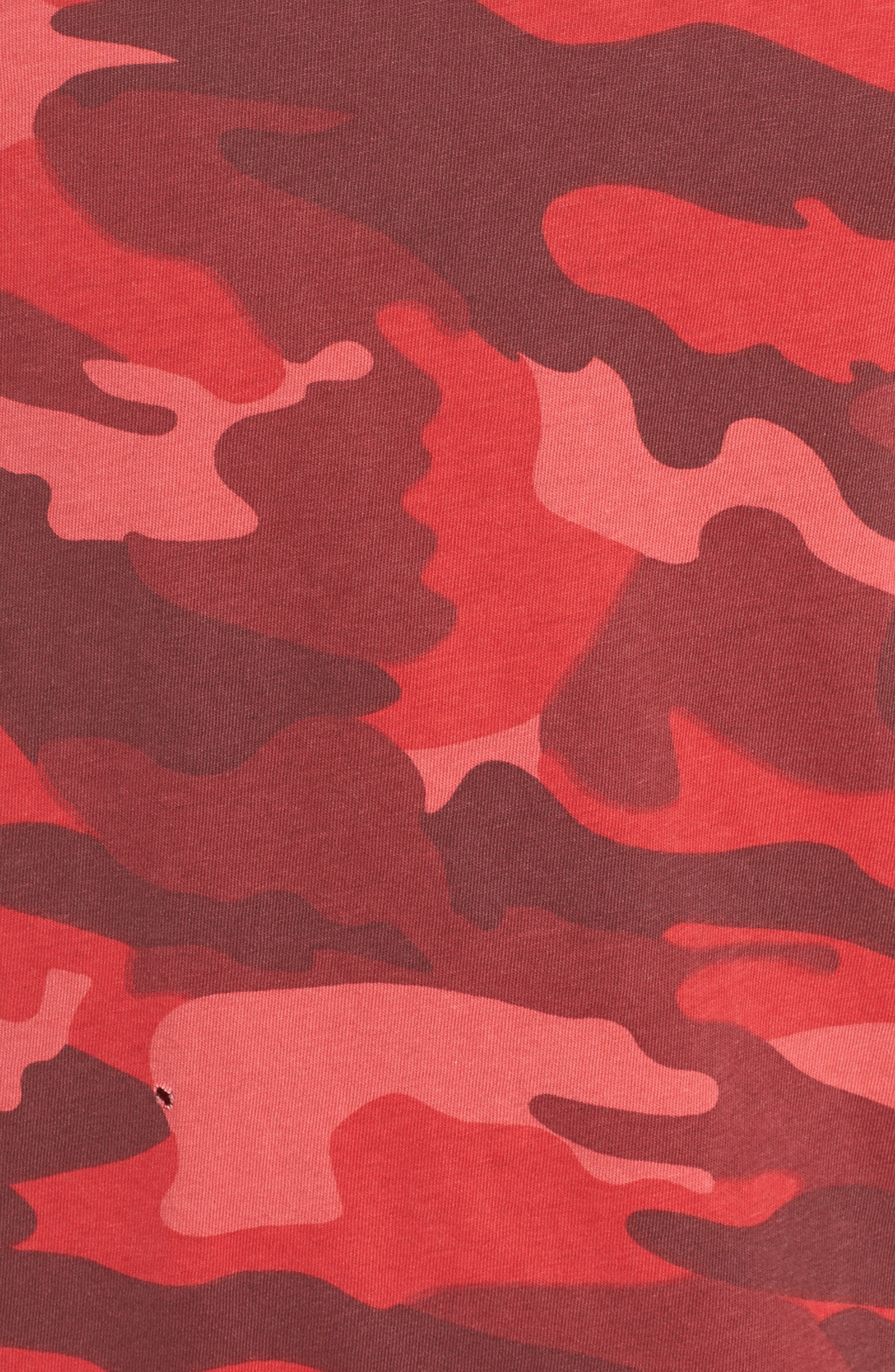Distressed Camo Tee,                             Alternate thumbnail 5, color,                             600