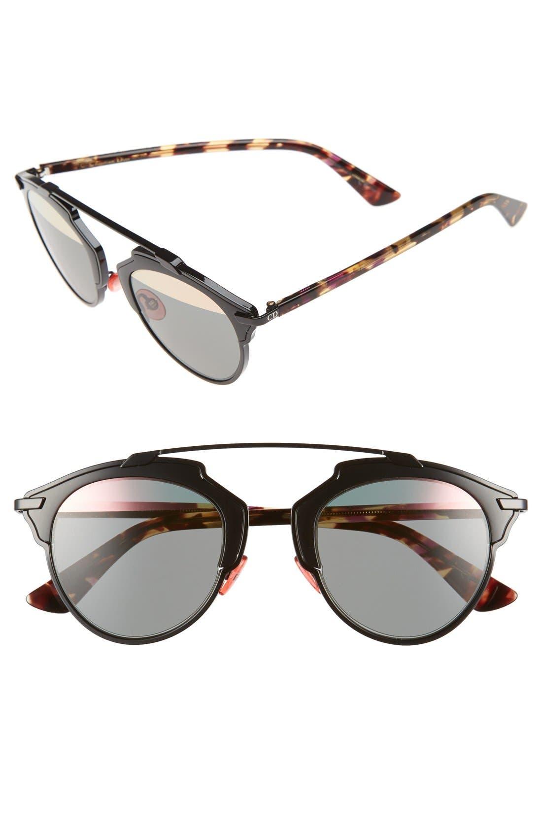 So Real 48mm Brow Bar Sunglasses,                             Main thumbnail 4, color,