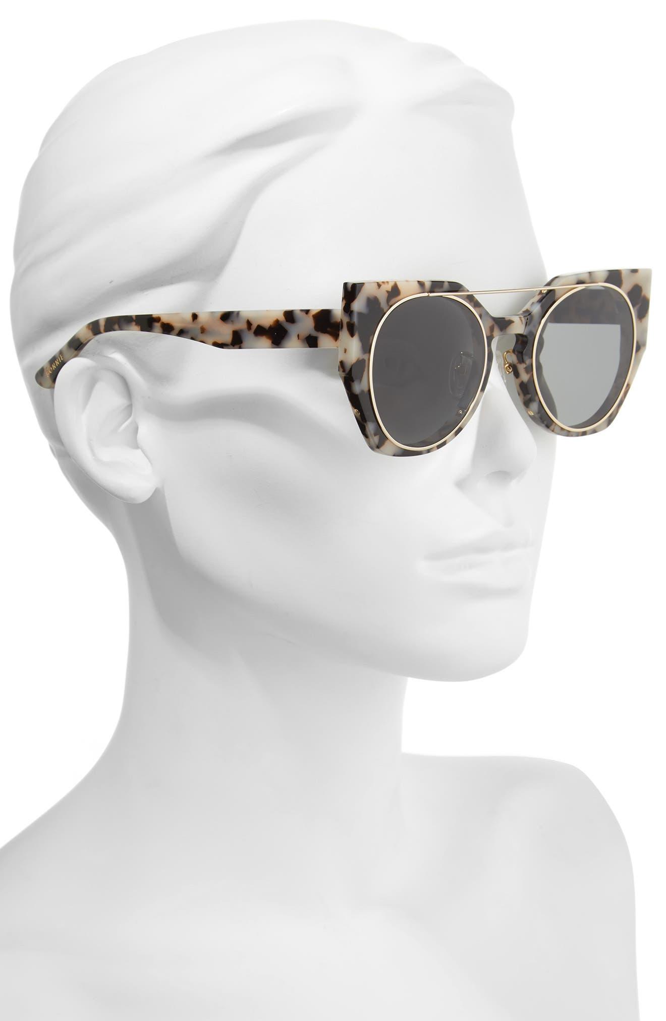 Olive 51mm Polarized Cat Eye Sunglasses,                             Alternate thumbnail 5, color,